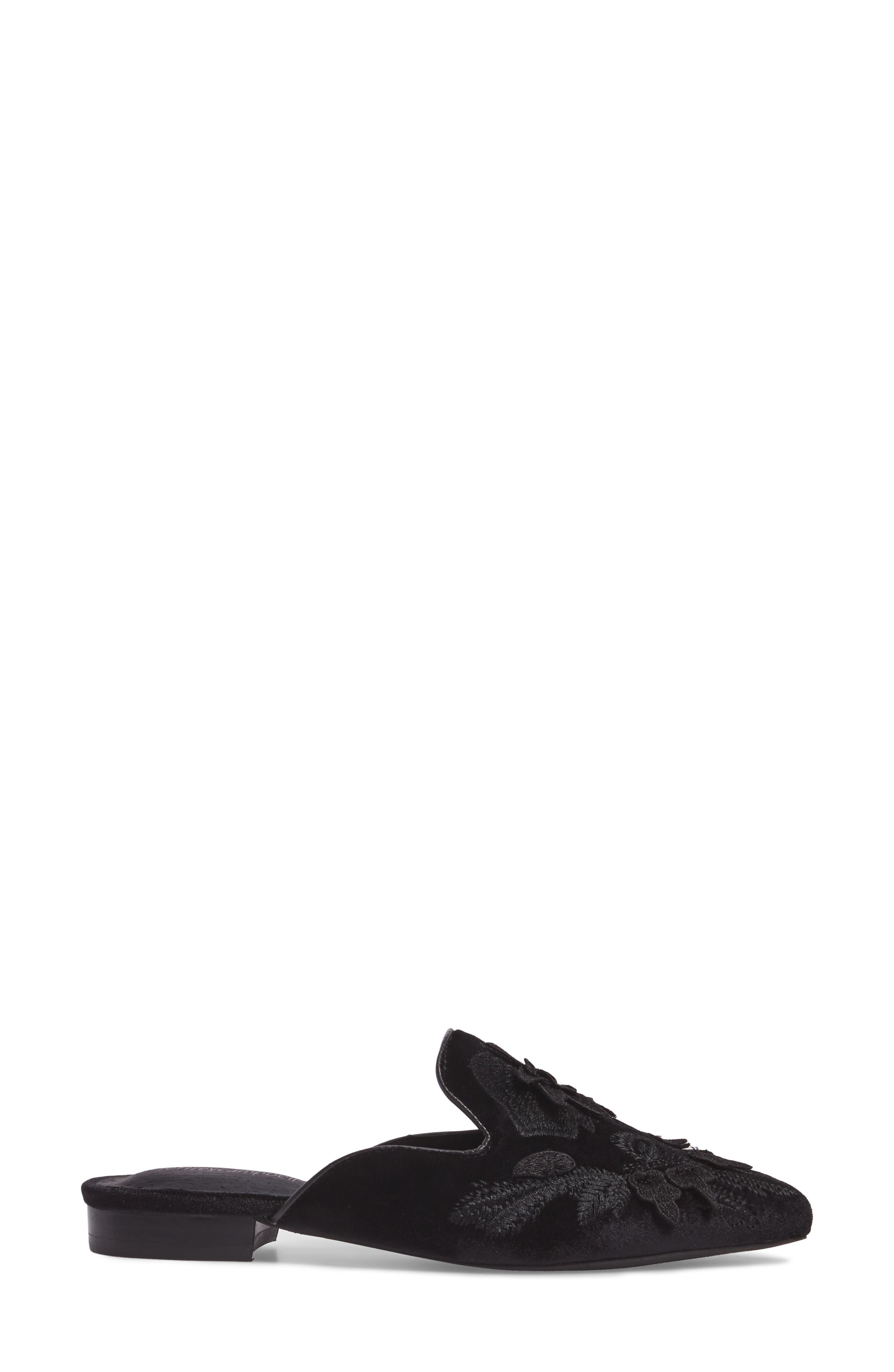 Claes Appliqué Loafer Mule,                             Alternate thumbnail 3, color,                             004