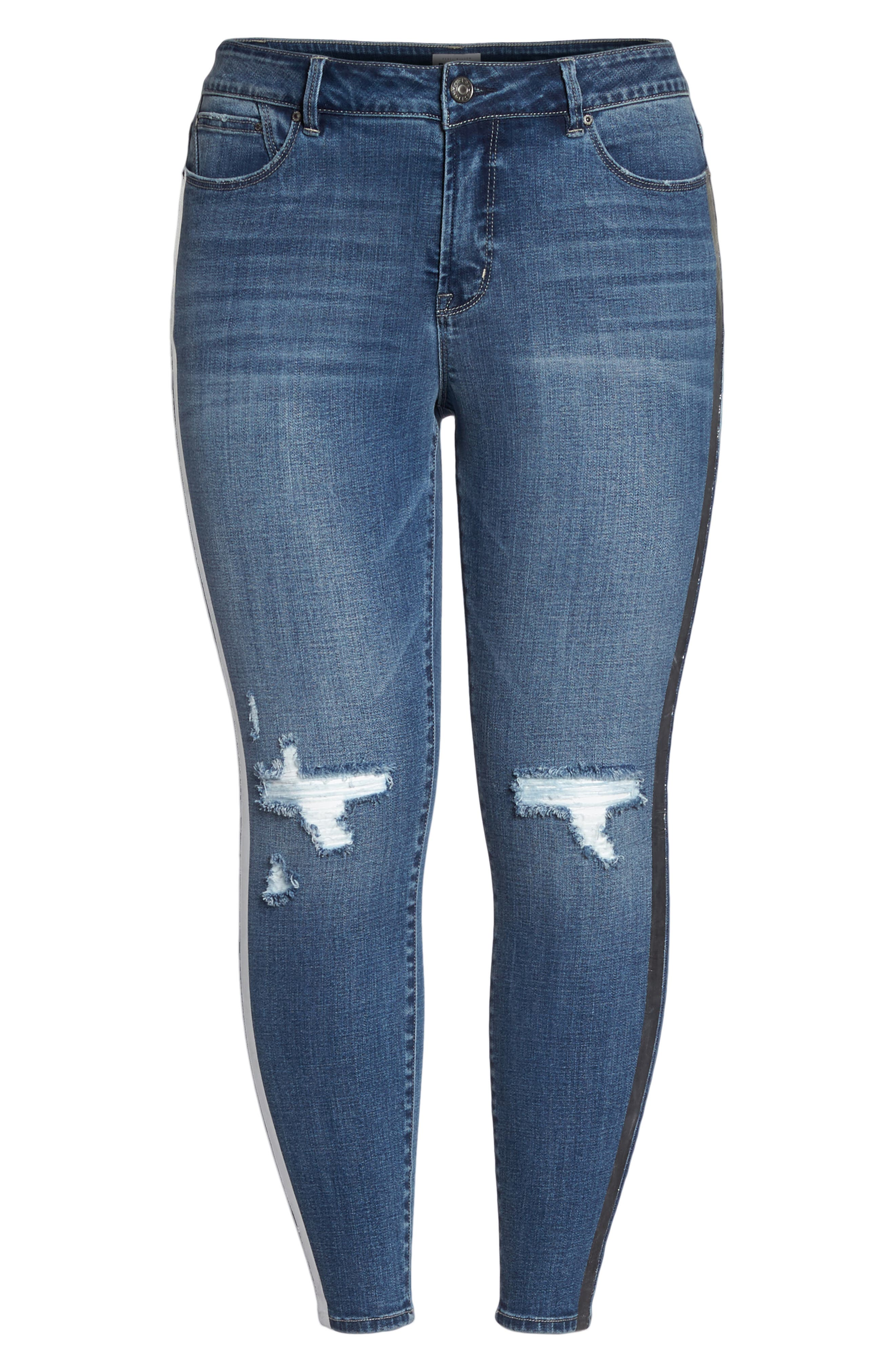 The Pin Up Ripped Ankle Jeans,                             Alternate thumbnail 9, color,