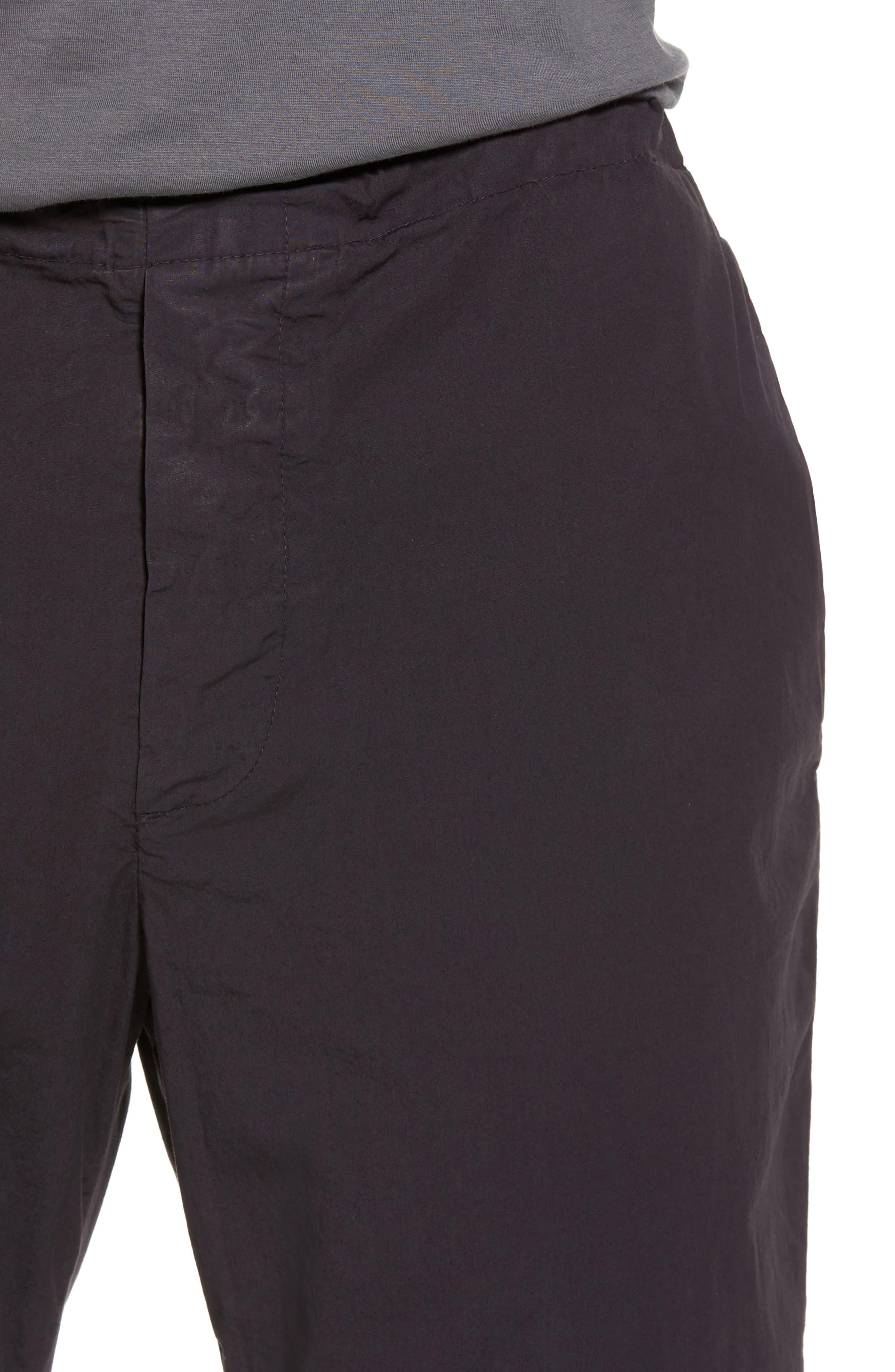 Slim Stretch Poplin Drawcord Pants,                             Alternate thumbnail 4, color,                             001