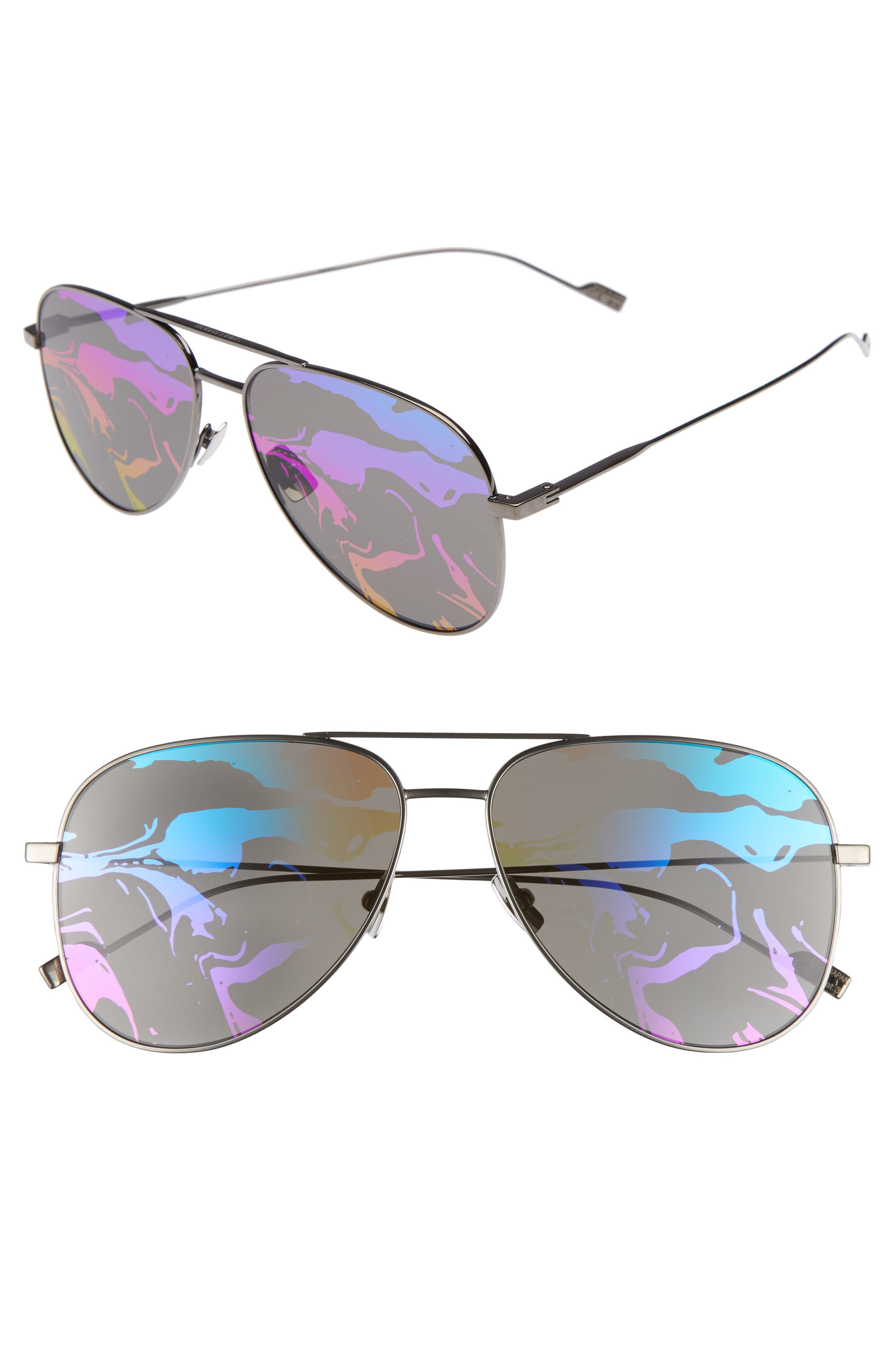 SL193 59mm Aviator Sunglasses,                             Main thumbnail 2, color,