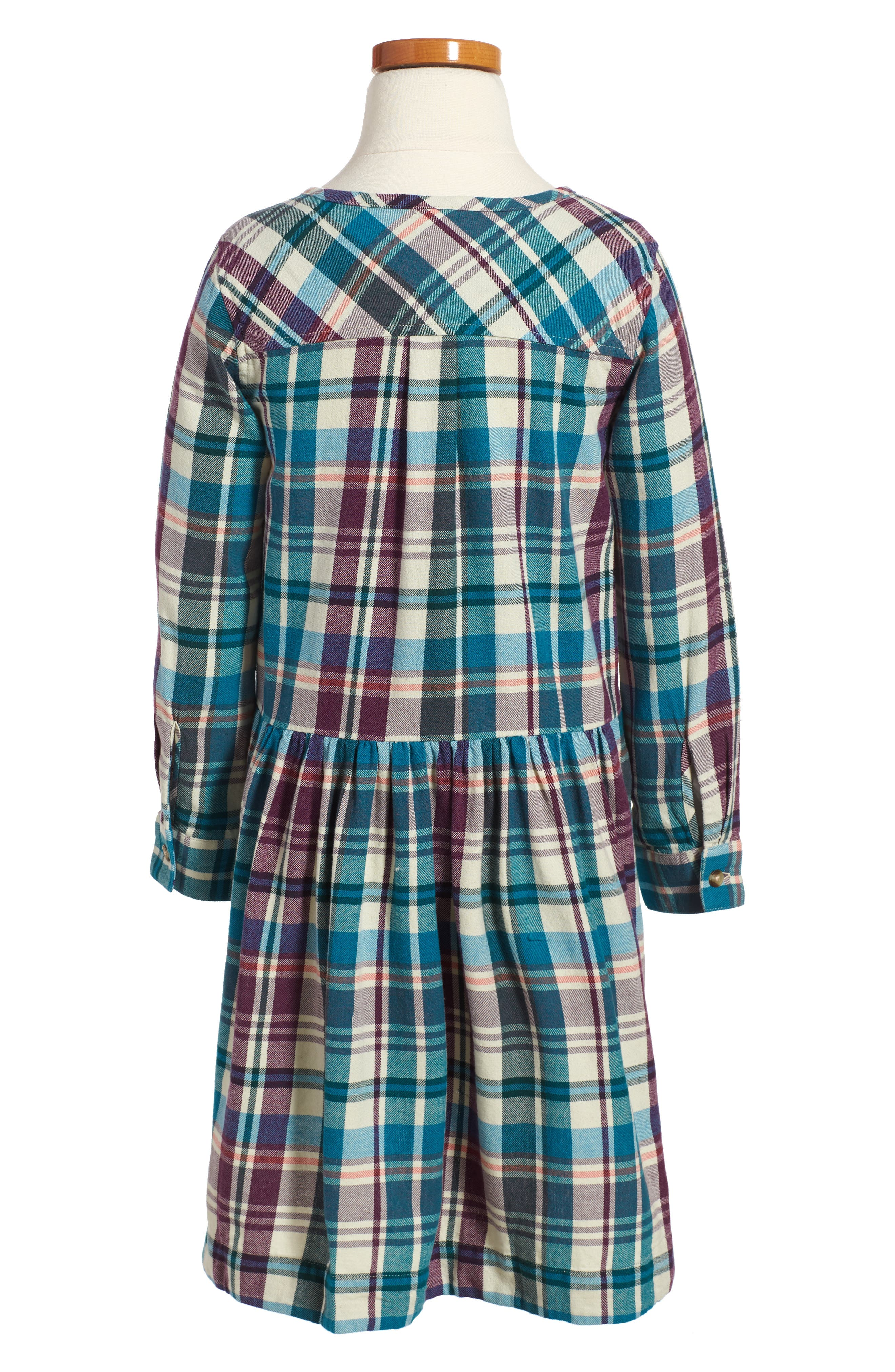 Applecross Plaid Flannel Shirtdress,                             Alternate thumbnail 2, color,                             900