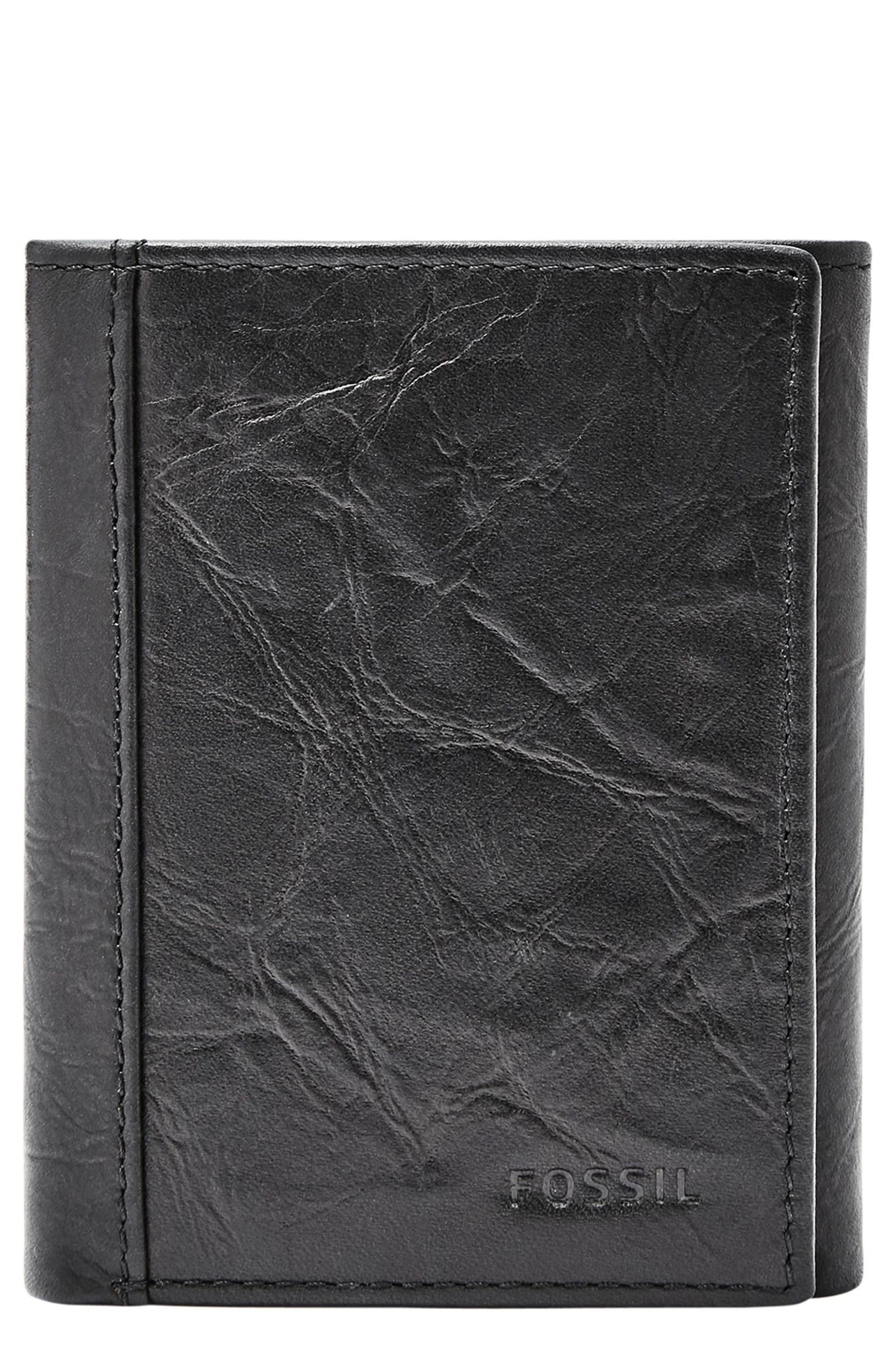 Neel Leather Wallet,                         Main,                         color, BLACK