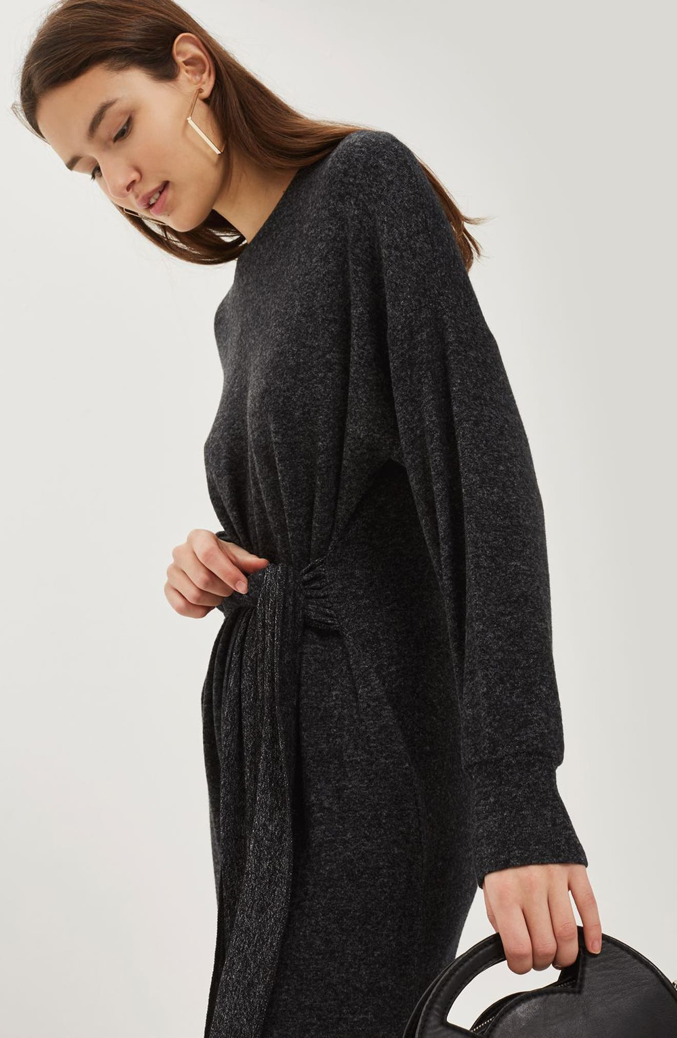 Cut and Sew Sweater Dress,                             Alternate thumbnail 4, color,                             020