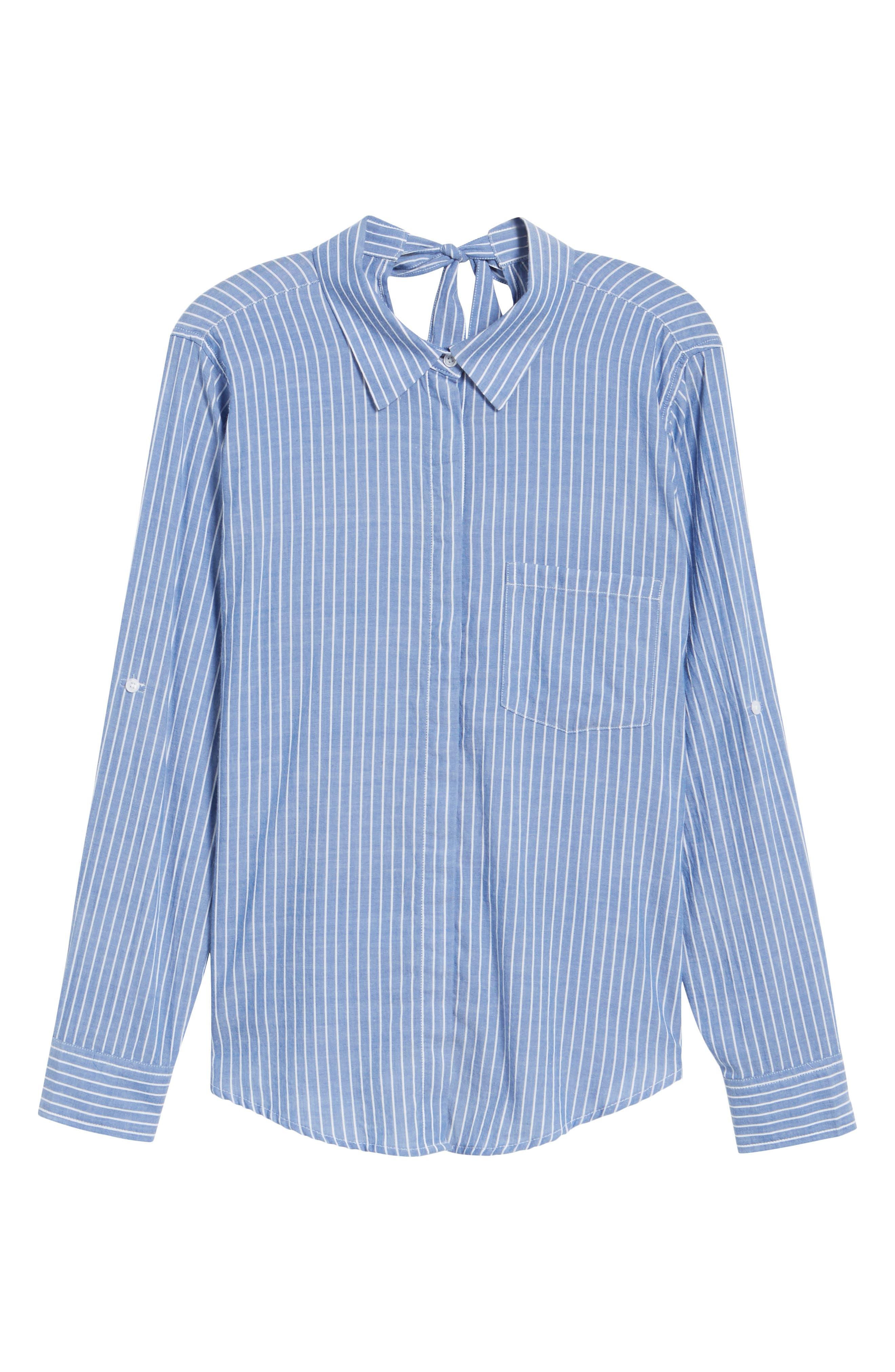 Mimi Stripe Shirt,                             Alternate thumbnail 6, color,                             494
