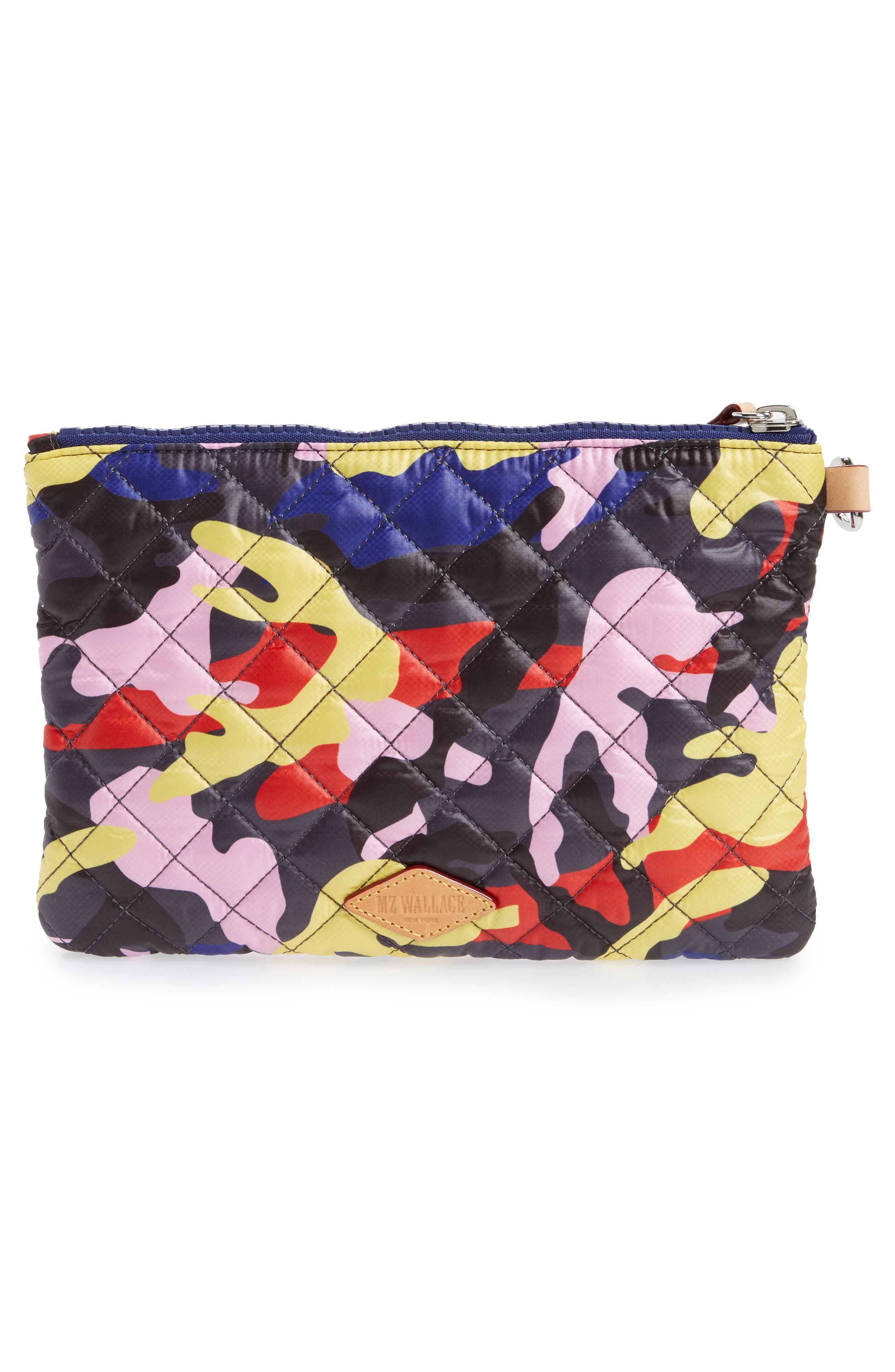 Small Metro Quilted Oxford Nylon Zip Pouch,                             Alternate thumbnail 11, color,