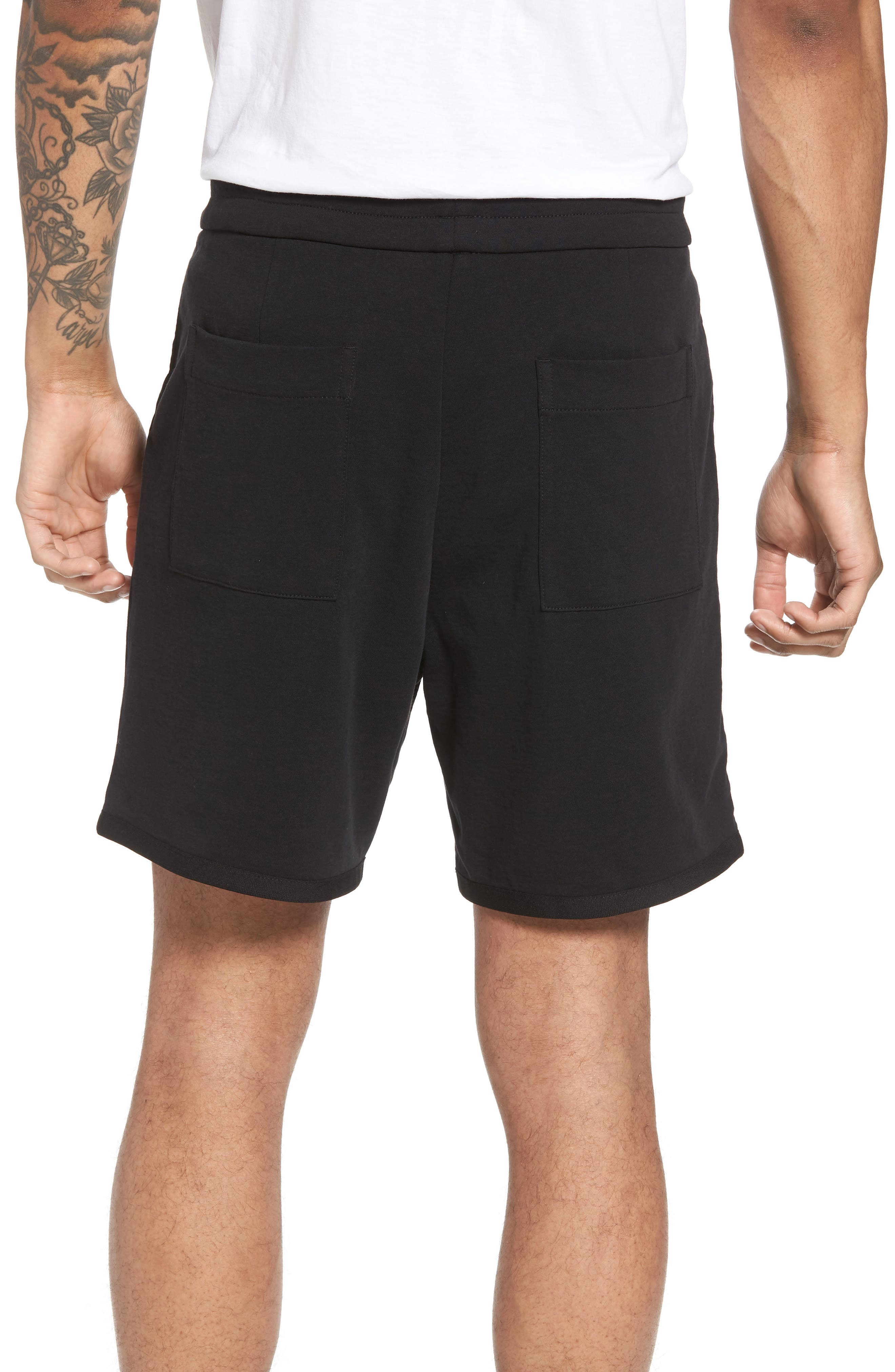 Taped Slim Fit Track Shorts,                             Alternate thumbnail 3, color,