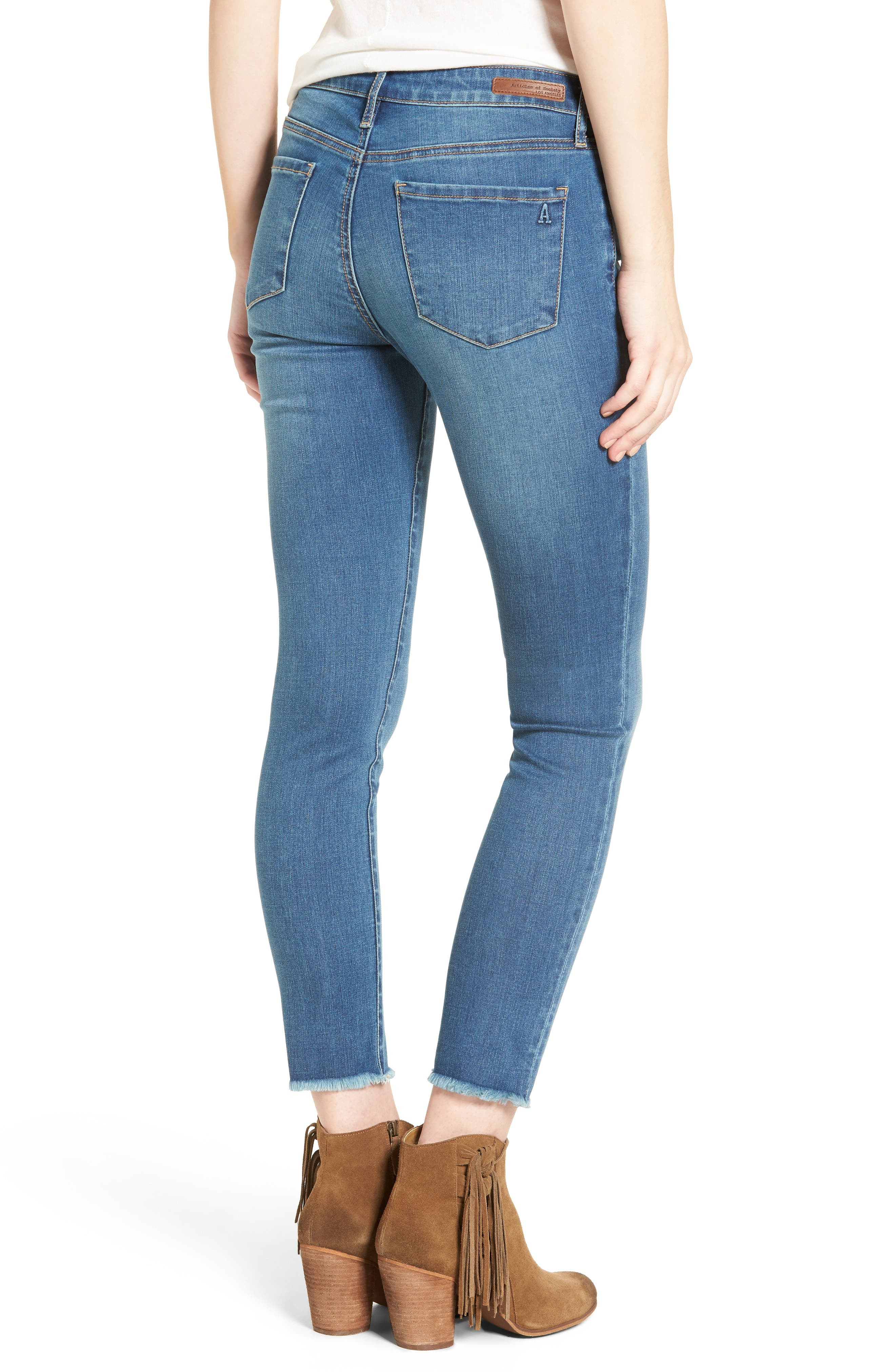 Carly Crop Skinny Jeans,                             Alternate thumbnail 2, color,                             498