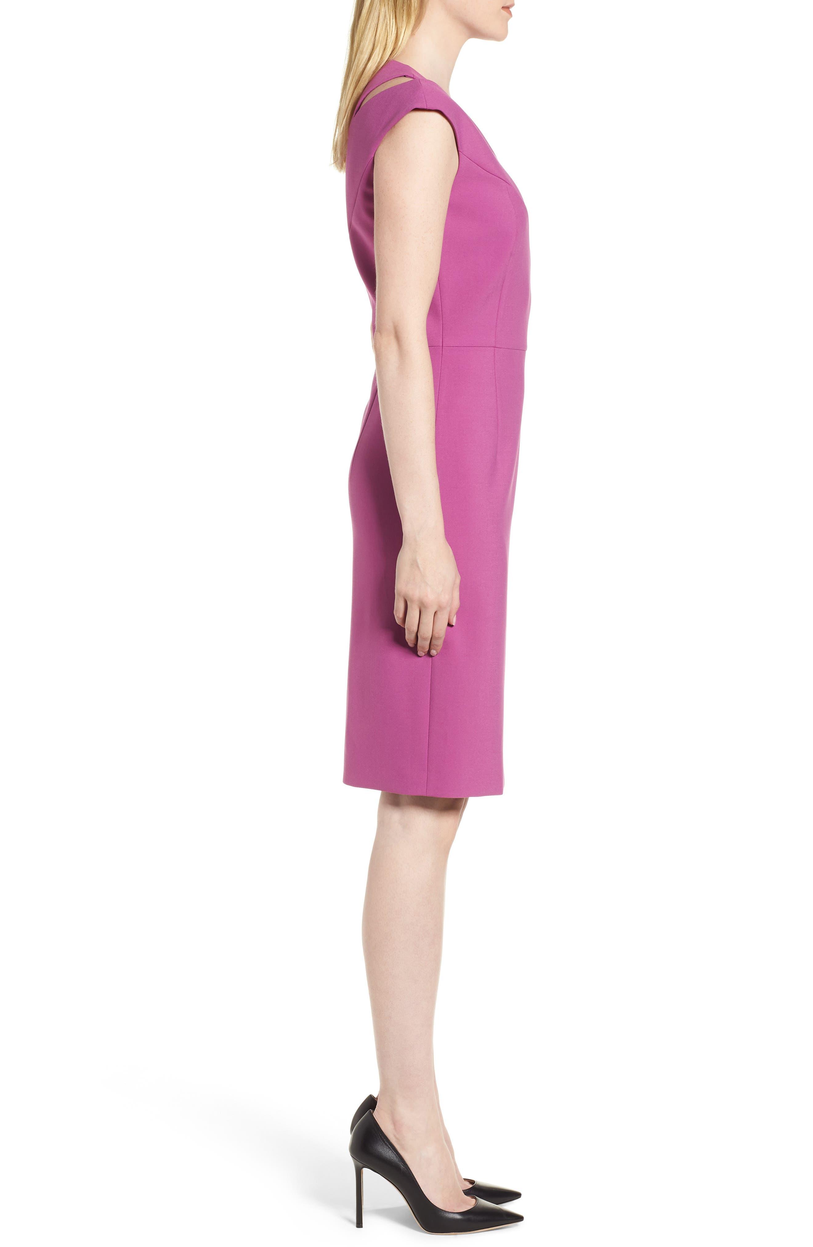 Danouk Ponte Sheath Dress,                             Alternate thumbnail 3, color,                             511