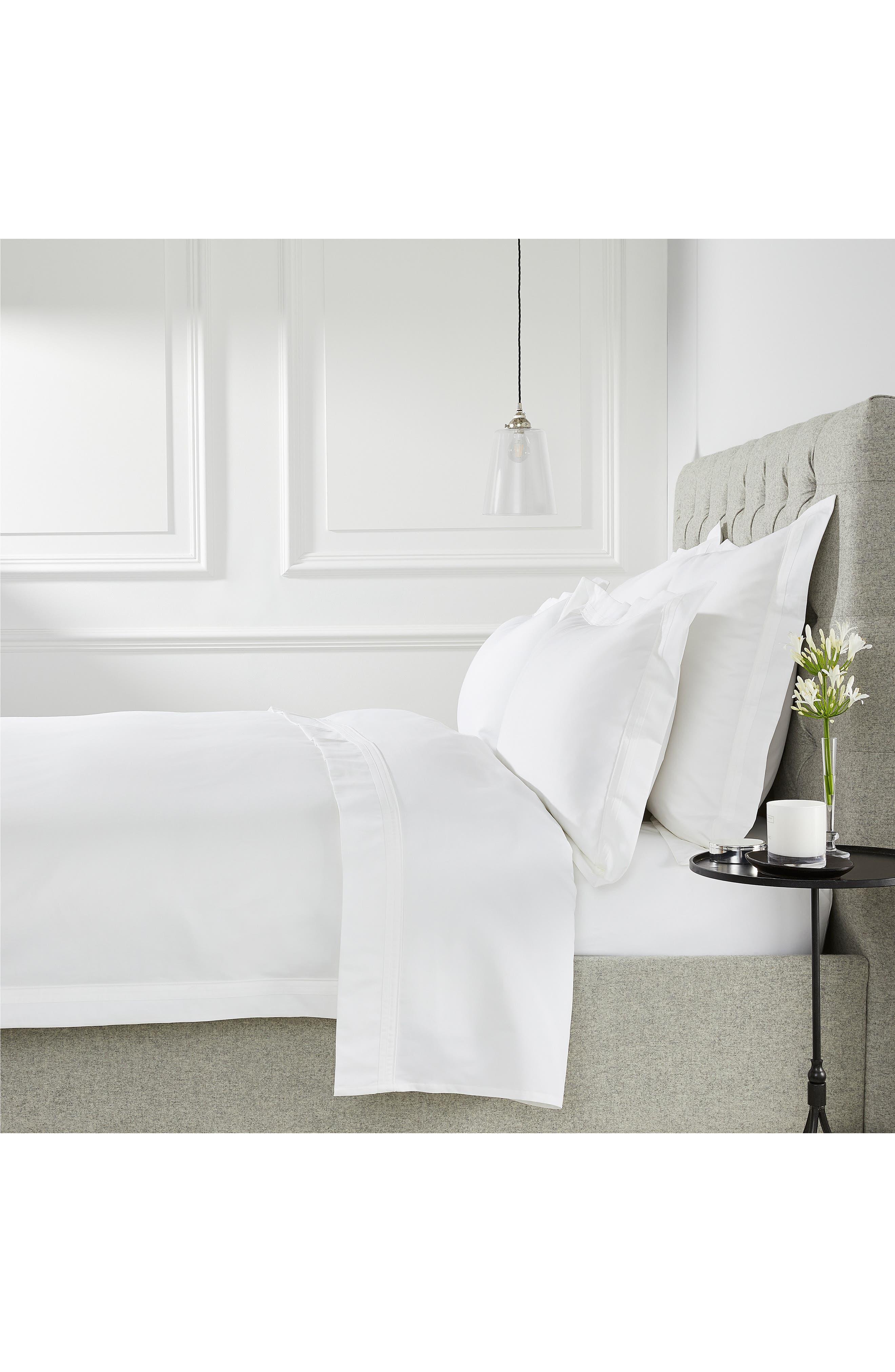 THE WHITE COMPANY Cavendish Duvet Cover, Main, color, WHITE