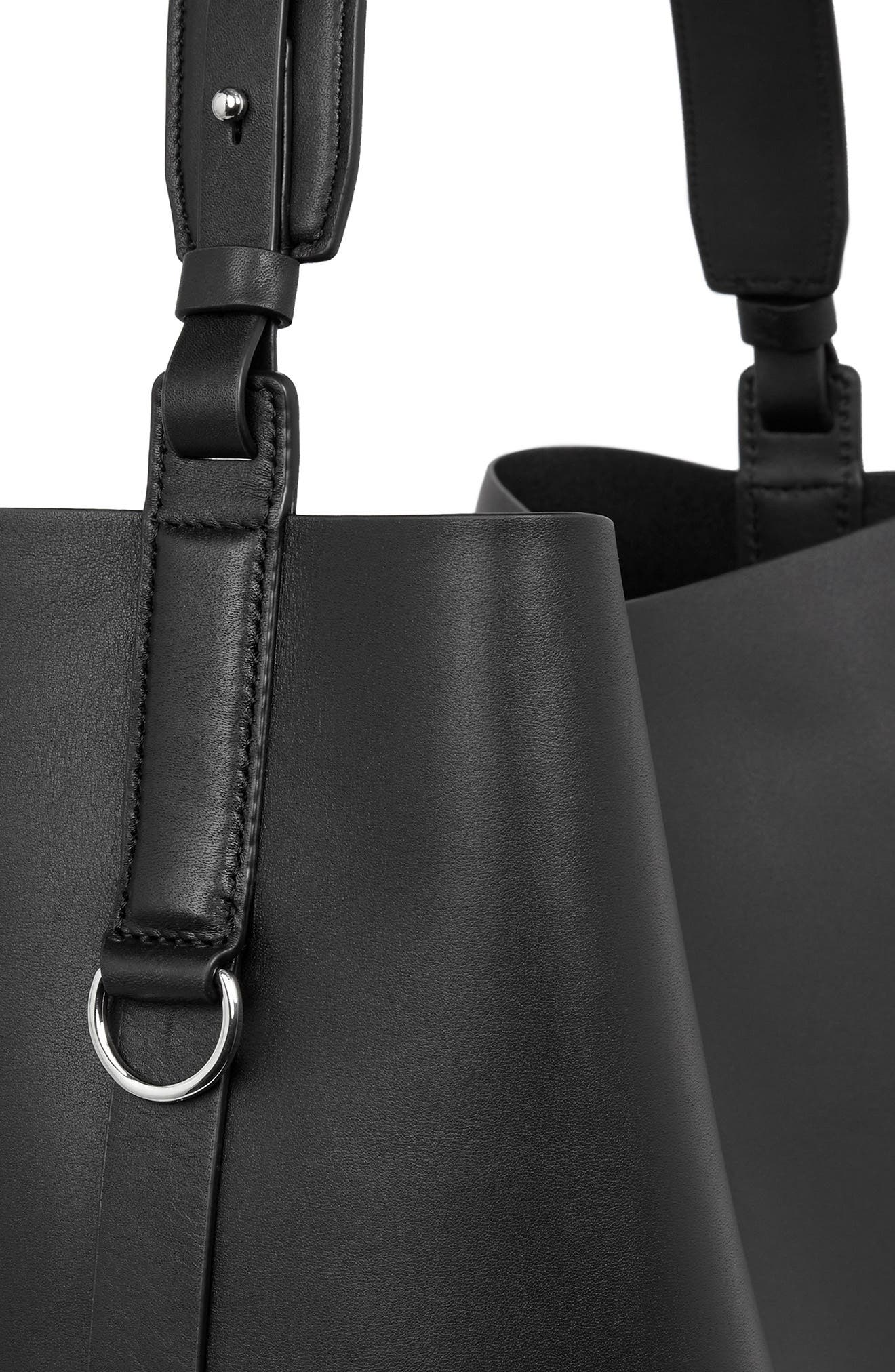 Suzi North/South Leather Tote,                             Alternate thumbnail 4, color,