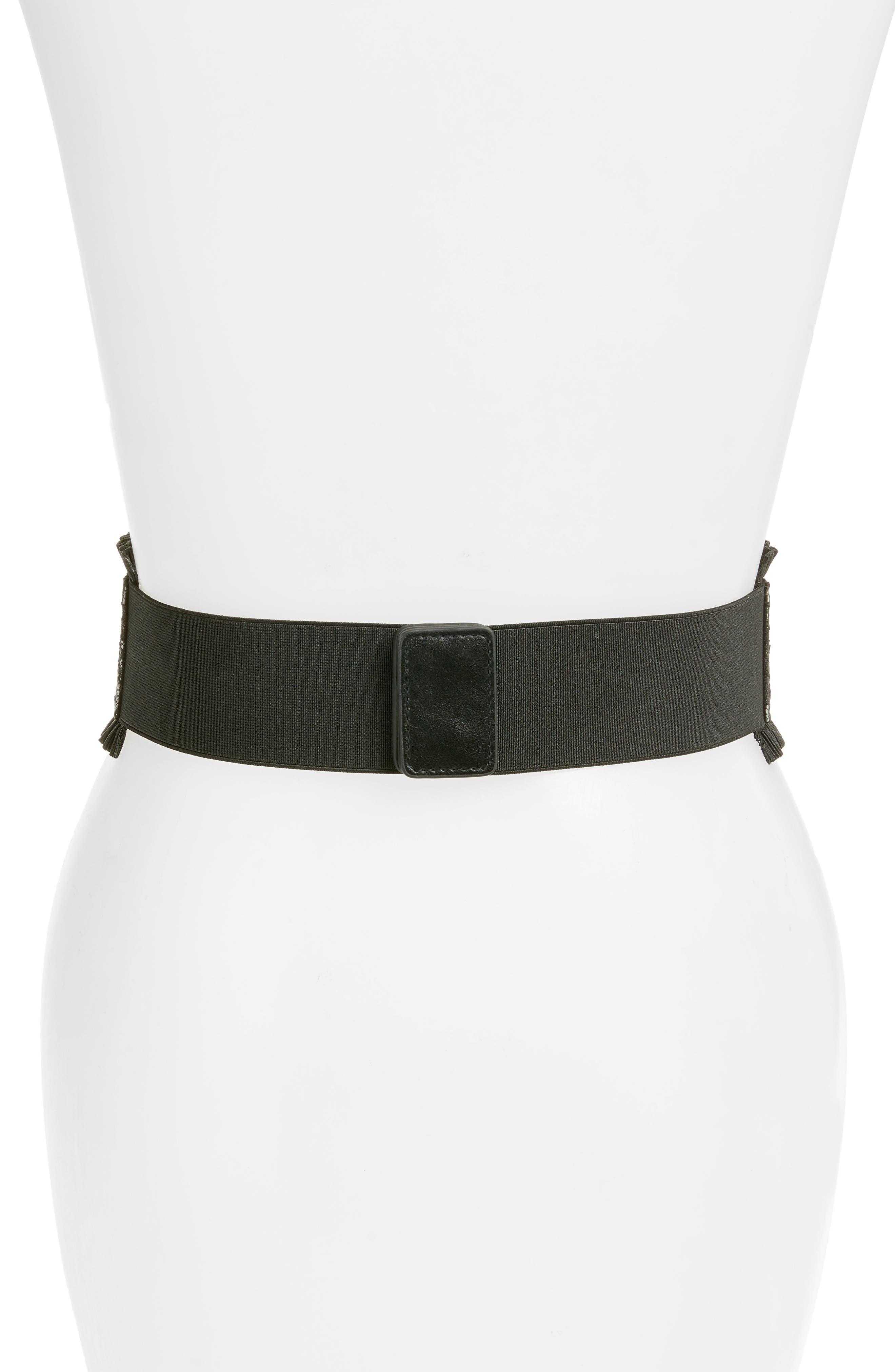 Lace Stretch Belt,                             Alternate thumbnail 2, color,                             001