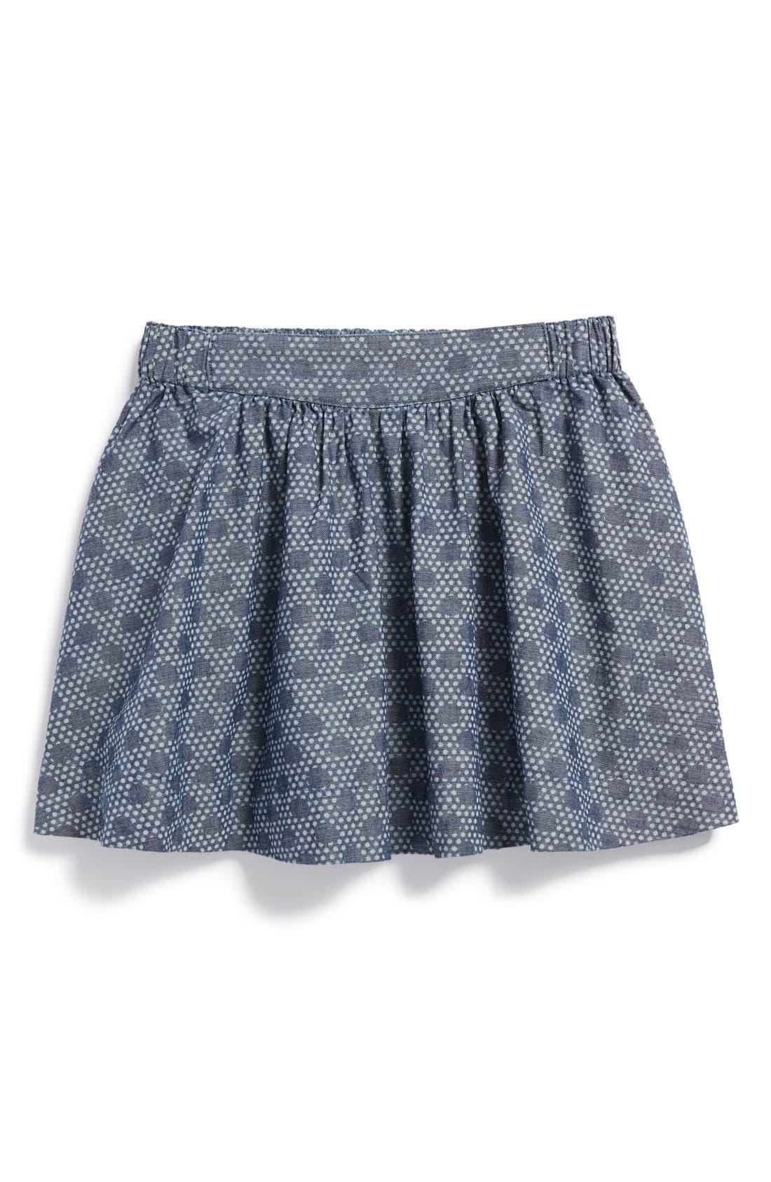 'Unity' Chambray Twirl Skirt,                             Main thumbnail 1, color,                             410