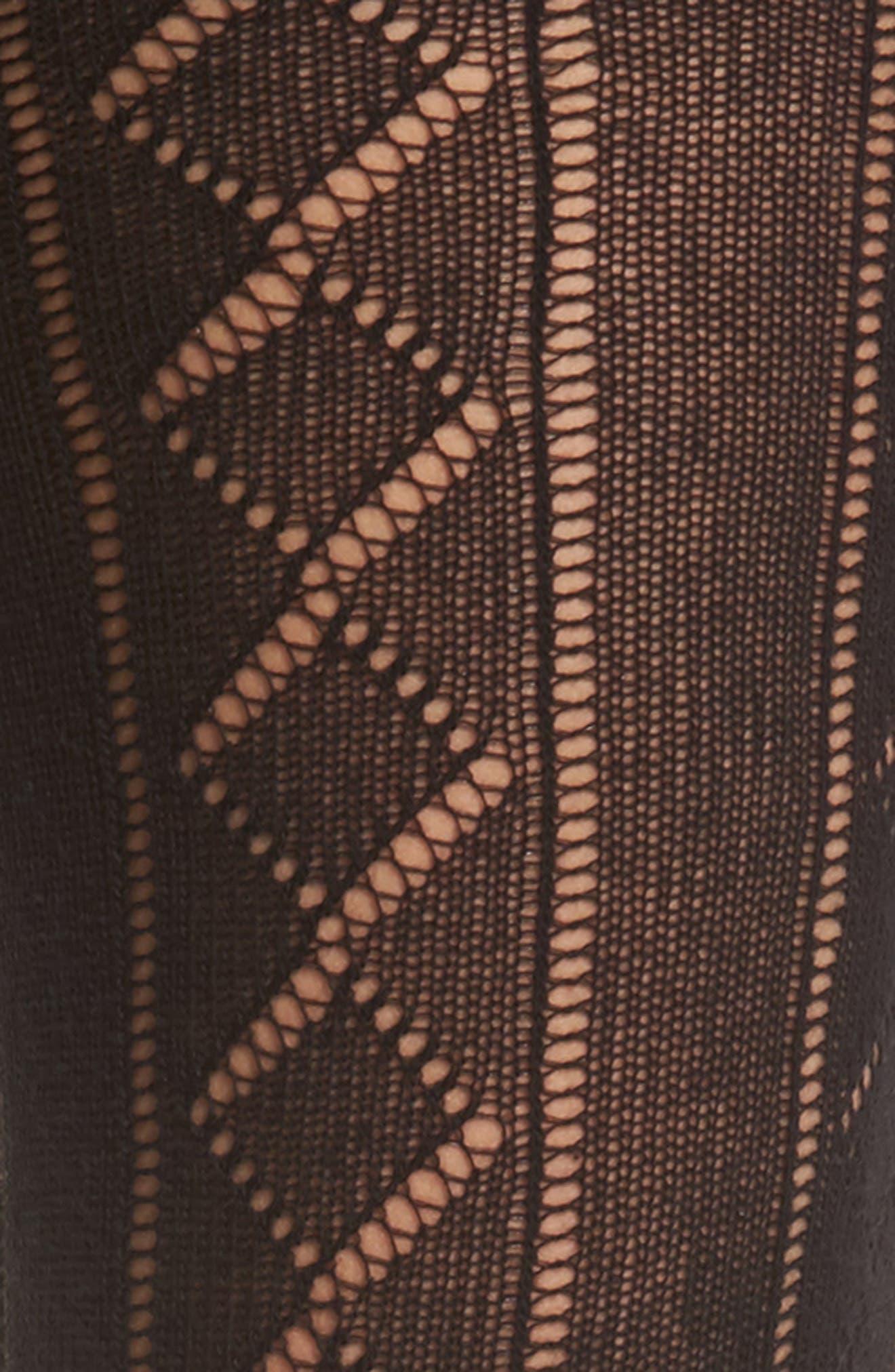 Losange Knit Tights,                             Alternate thumbnail 2, color,                             001