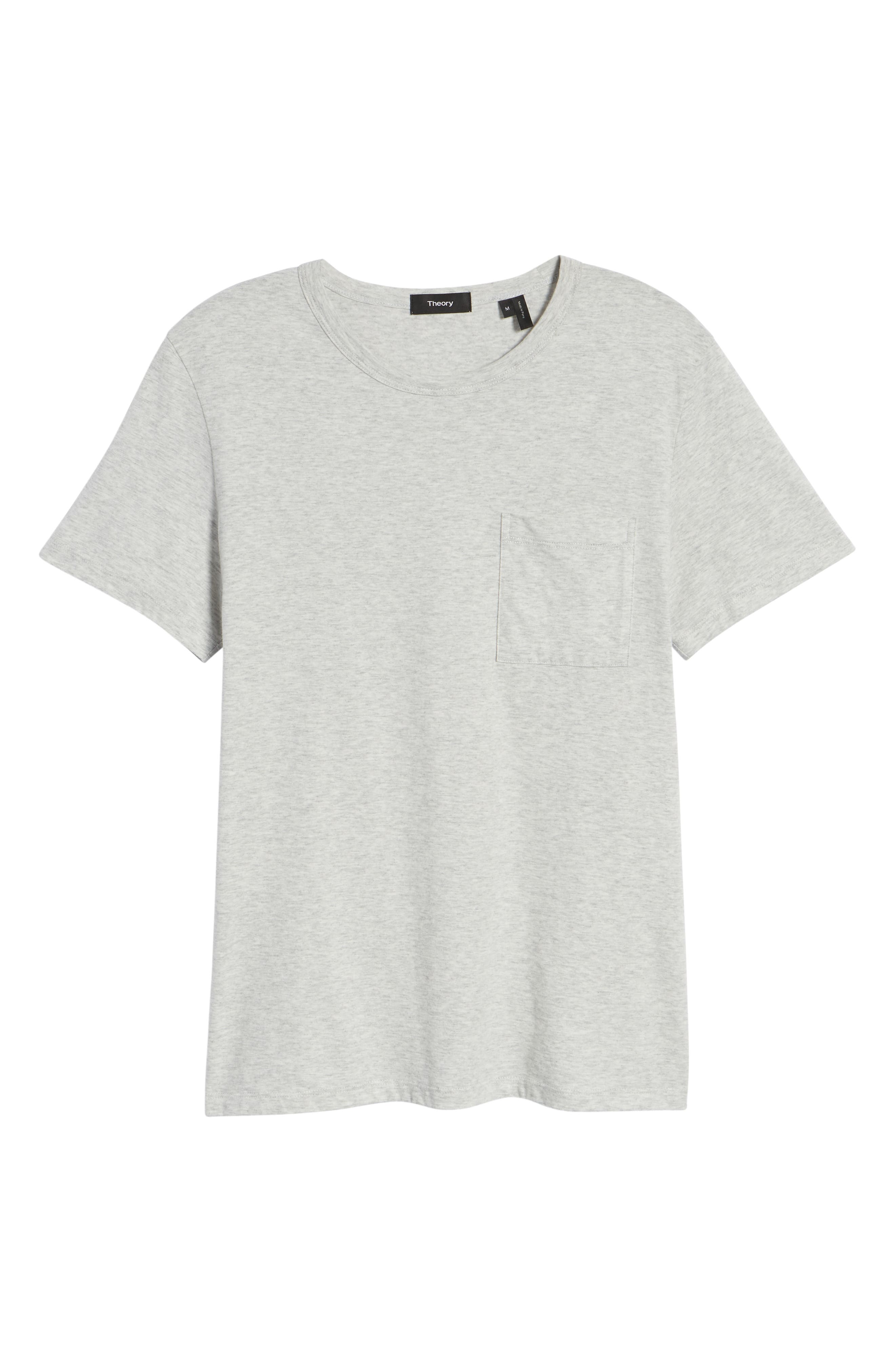 THEORY,                             Essential Pocket T-Shirt,                             Alternate thumbnail 6, color,                             020