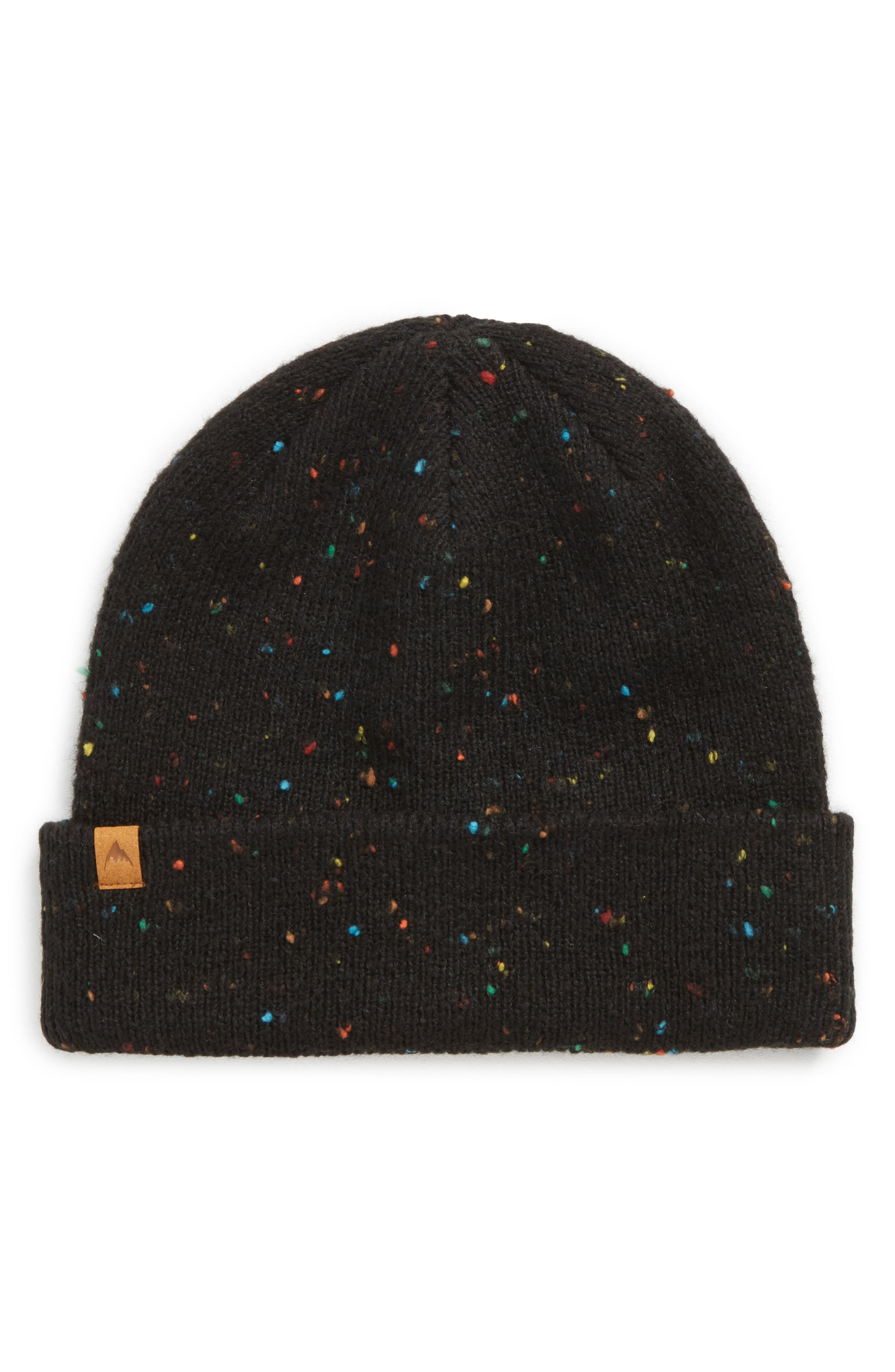 Linden Beanie,                             Main thumbnail 1, color,                             TRUE BLACK