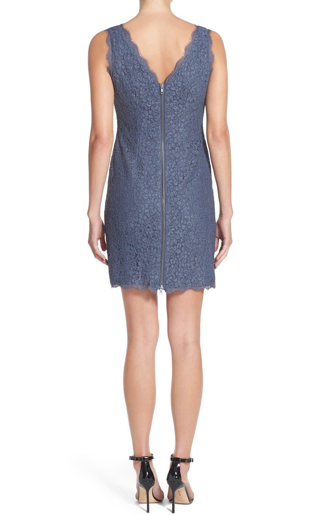 Boatneck Lace Sheath Dress,                             Alternate thumbnail 127, color,