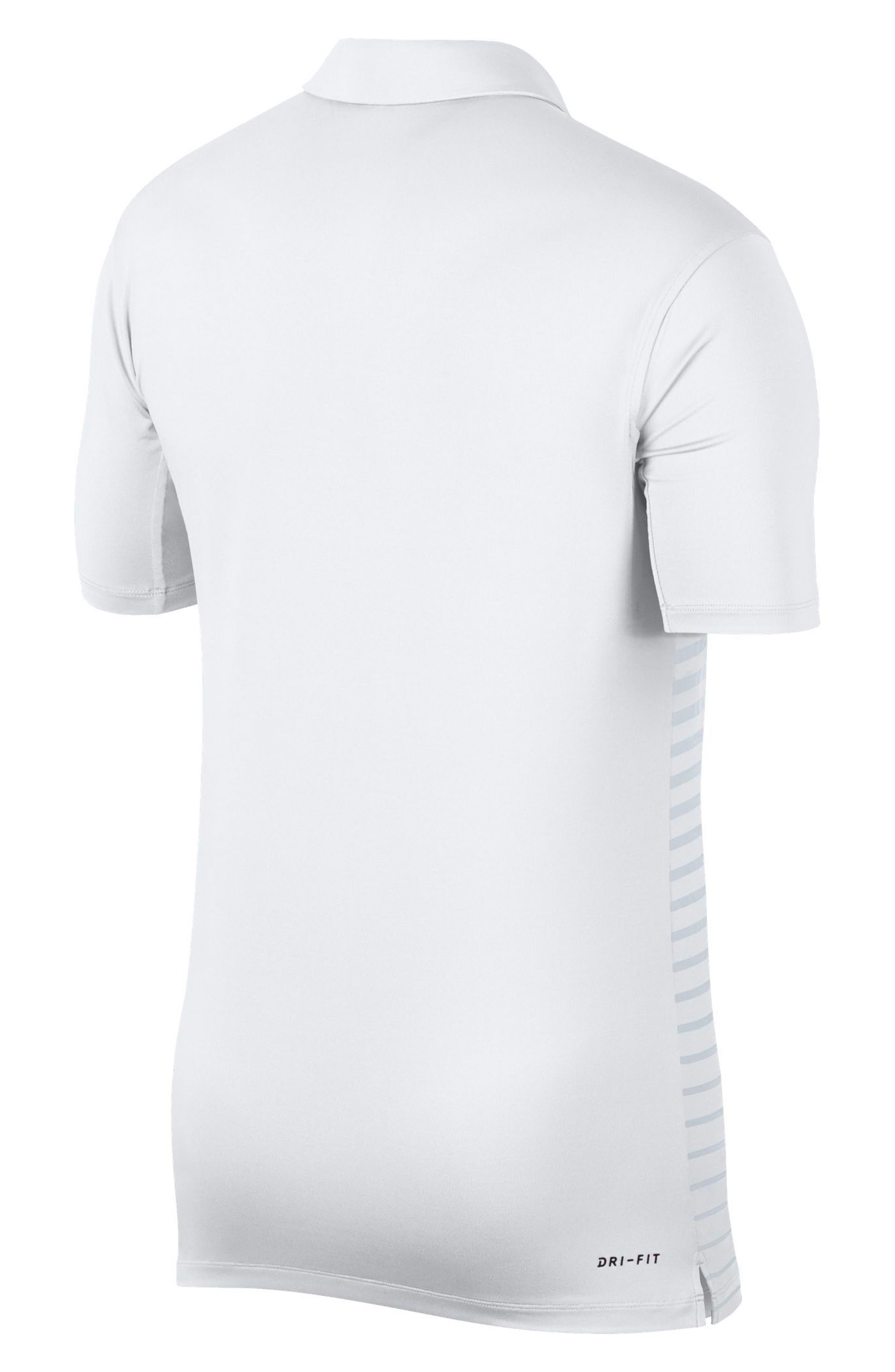 Dry Polo Shirt,                             Alternate thumbnail 4, color,                             WHITE/ BLACK/ SILVER