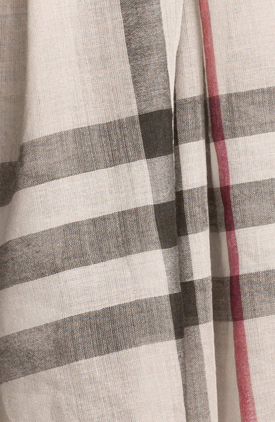 Giant Check Print Wool & Silk Scarf,                             Alternate thumbnail 80, color,
