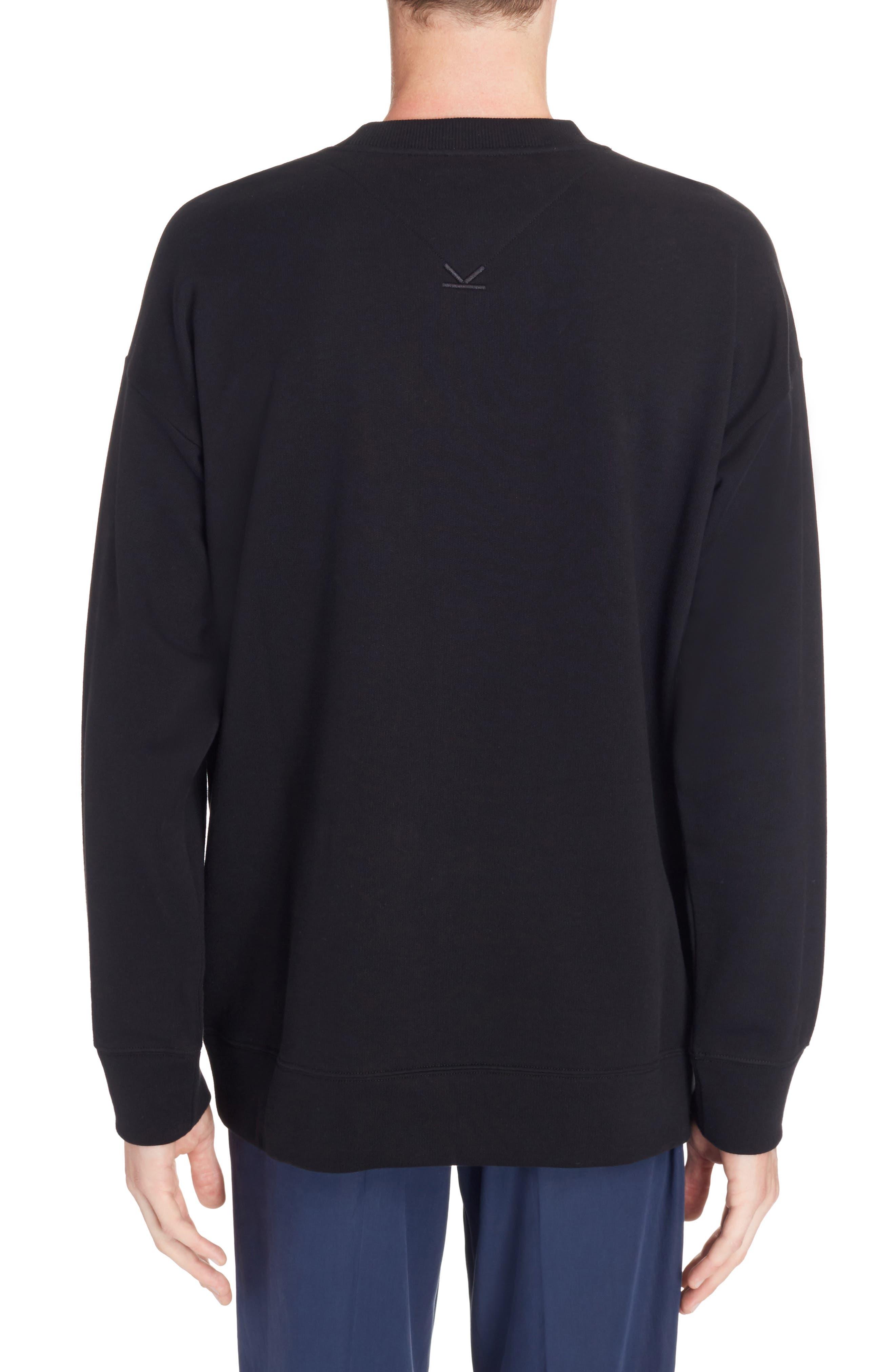 Embroidered Cursive Logo Sweatshirt,                             Alternate thumbnail 2, color,                             001