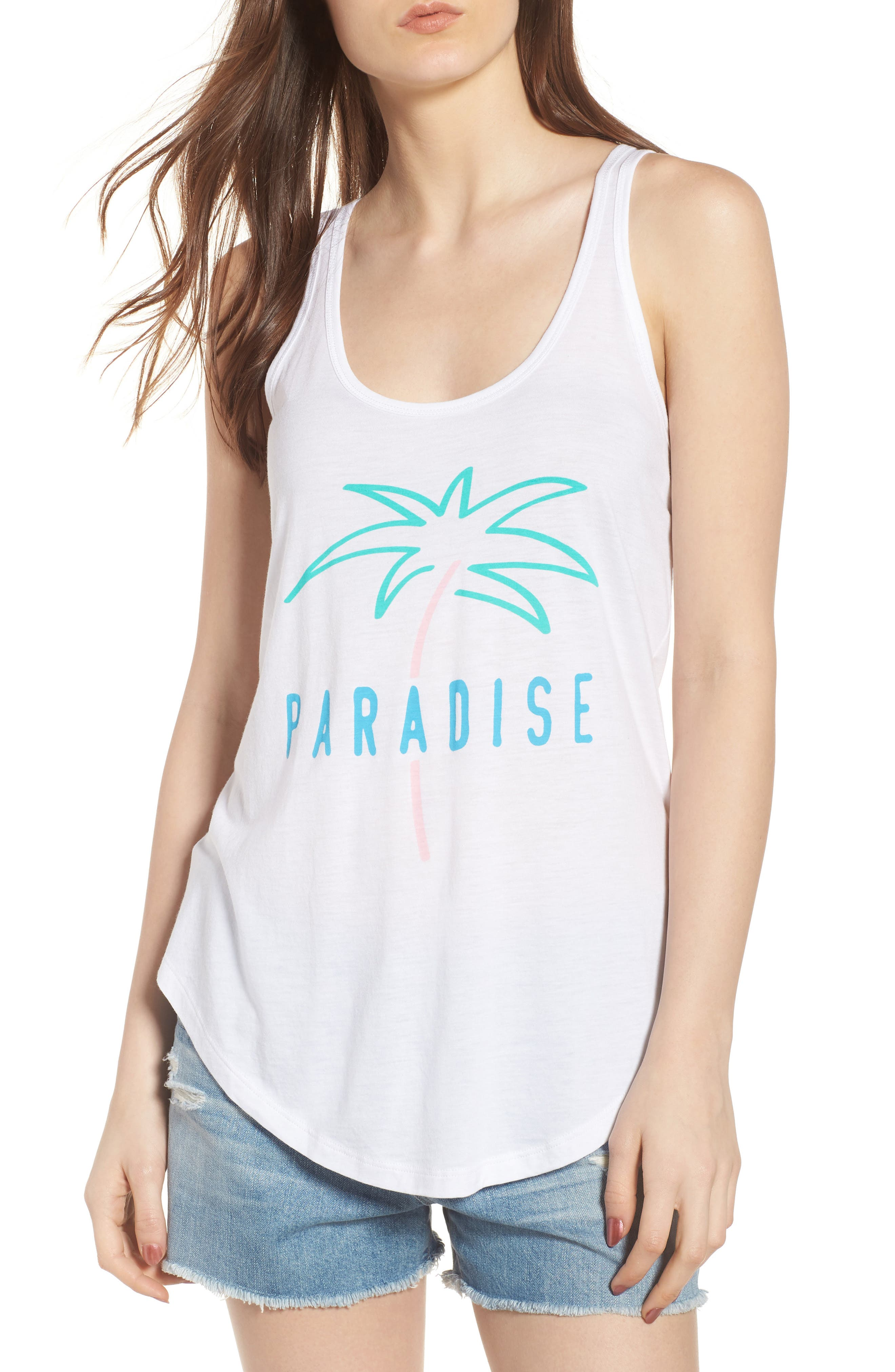 Bella - Paradise Tank,                             Main thumbnail 1, color,                             WHITE