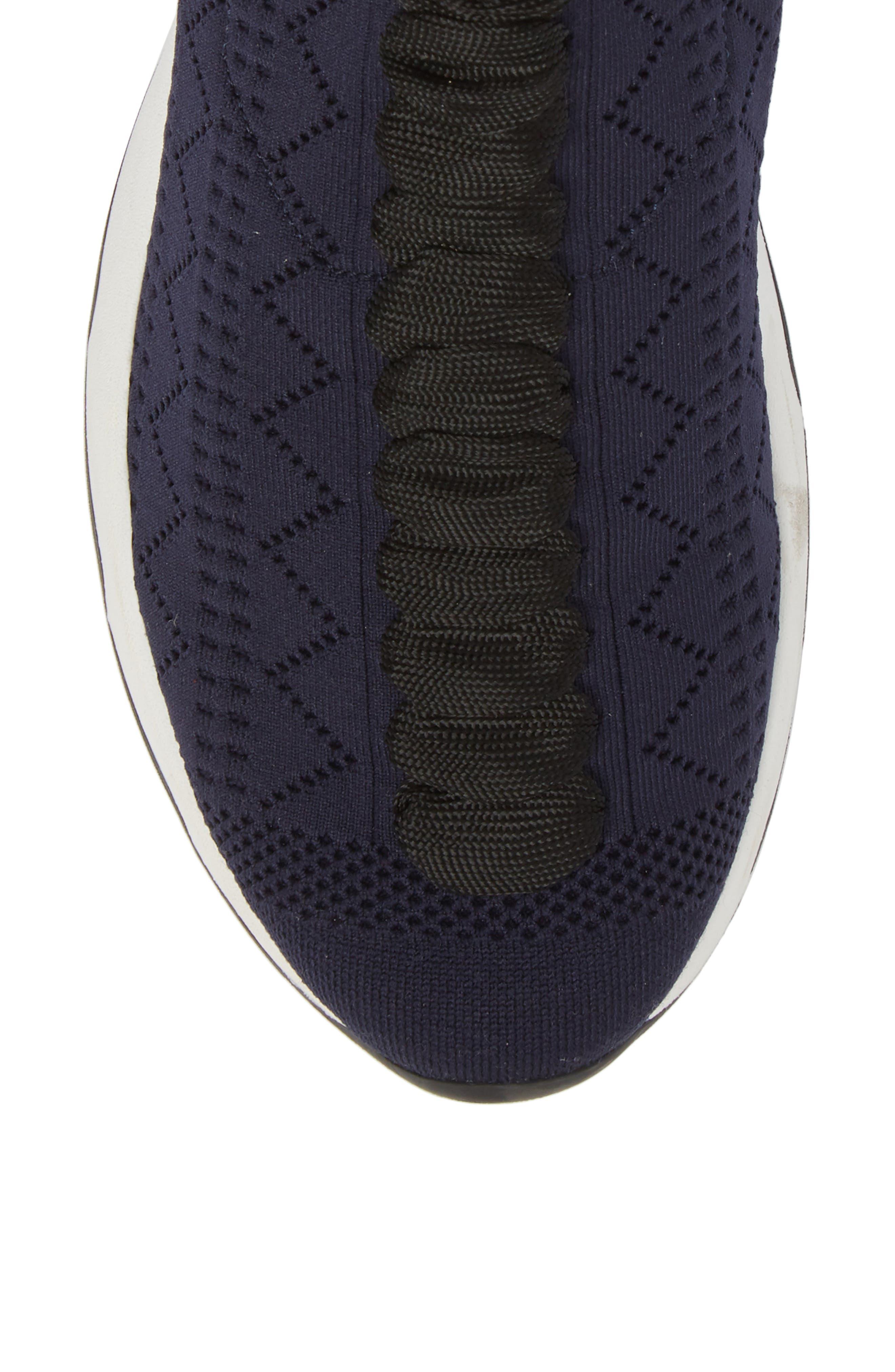 Rockoko Logo Sock Sneaker,                             Alternate thumbnail 5, color,                             NAVY