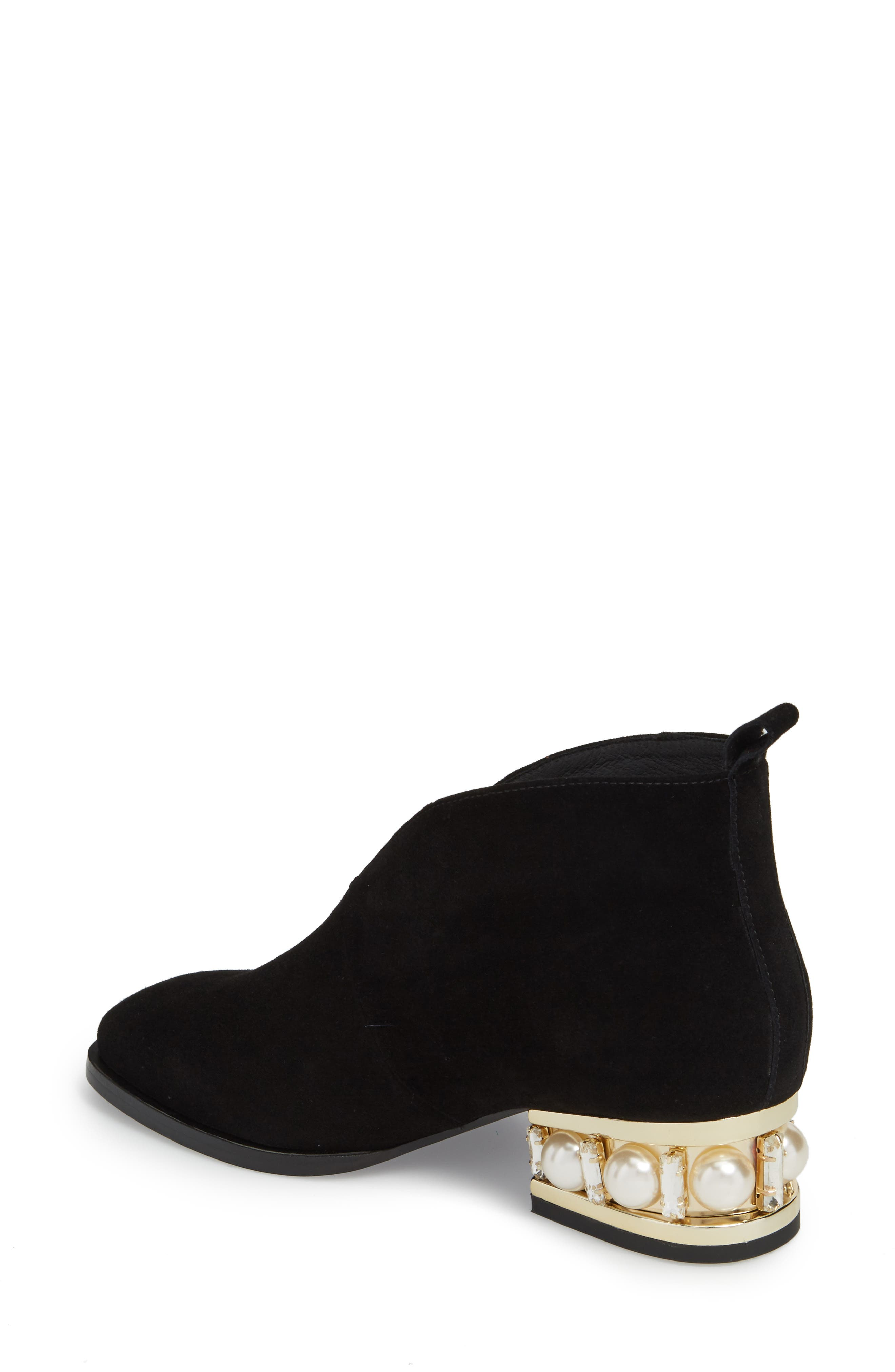 Jerman-VPJ Embellished Bootie,                             Alternate thumbnail 2, color,                             BLACK/ GOLD SUEDE