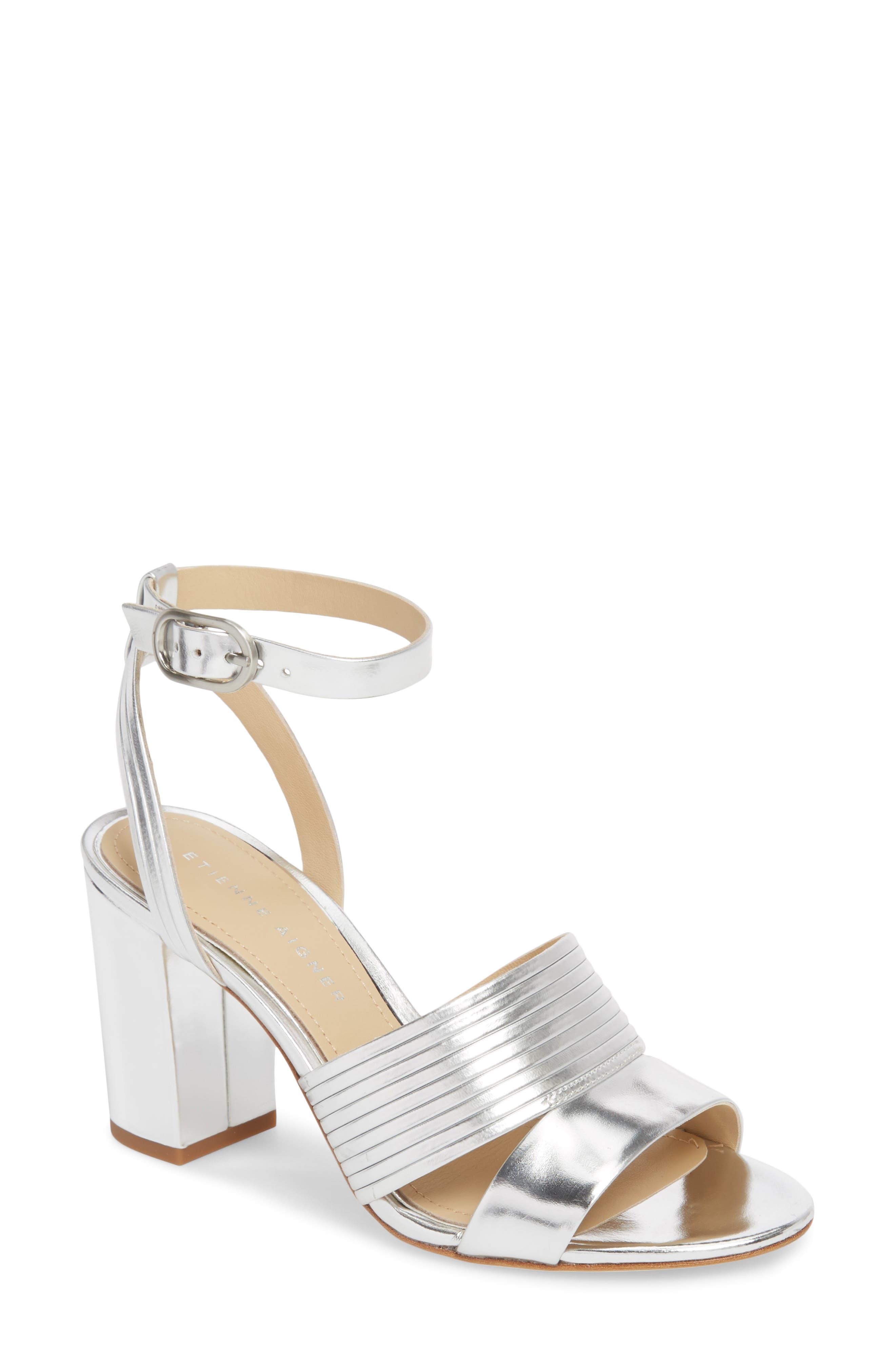 ETIENNE AIGNER,                             Layla Ankle Strap Sandal,                             Main thumbnail 1, color,                             040
