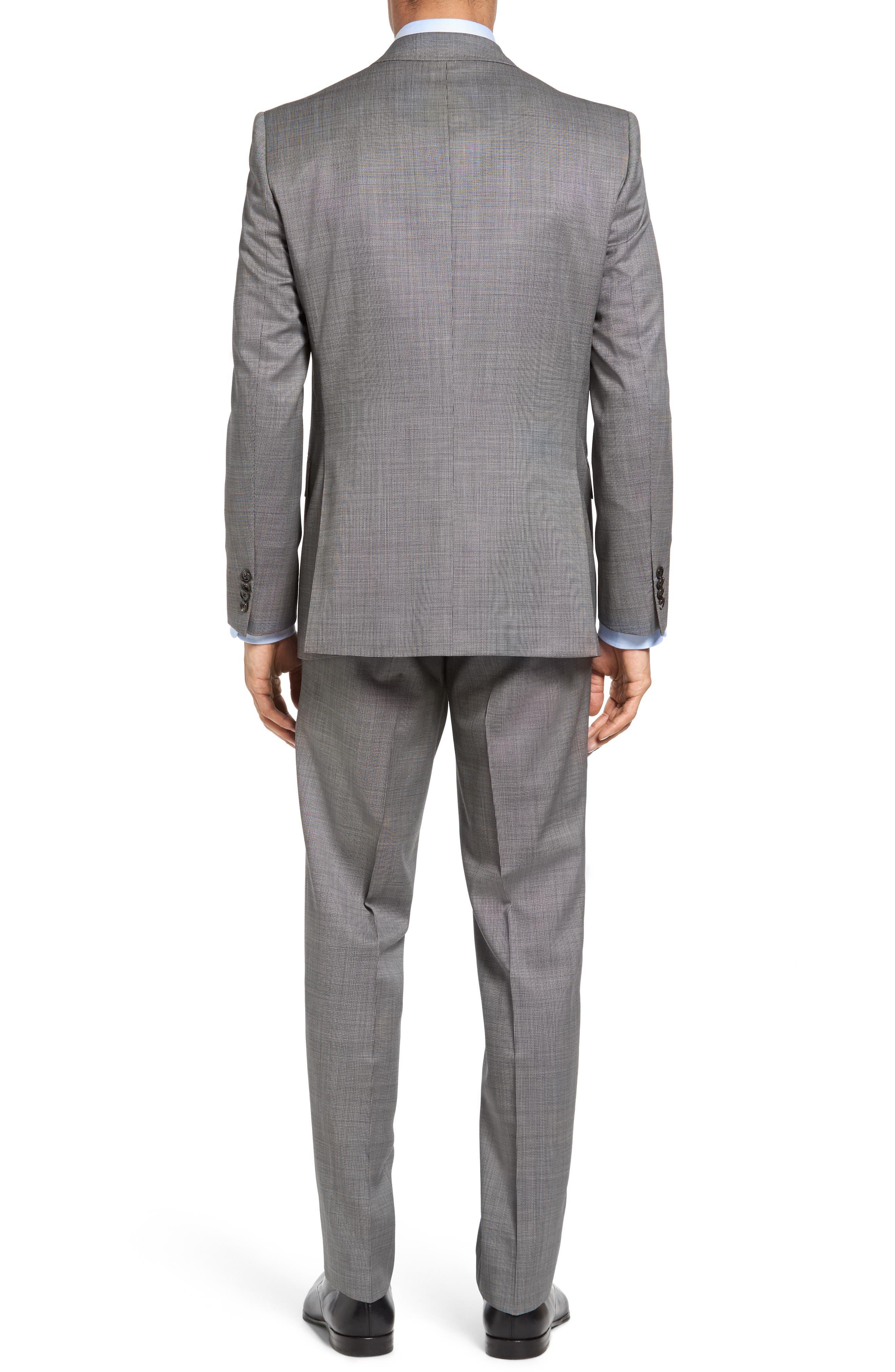 Jay Trim Fit Solid Wool Suit,                             Alternate thumbnail 3, color,                             LIGHT GREY