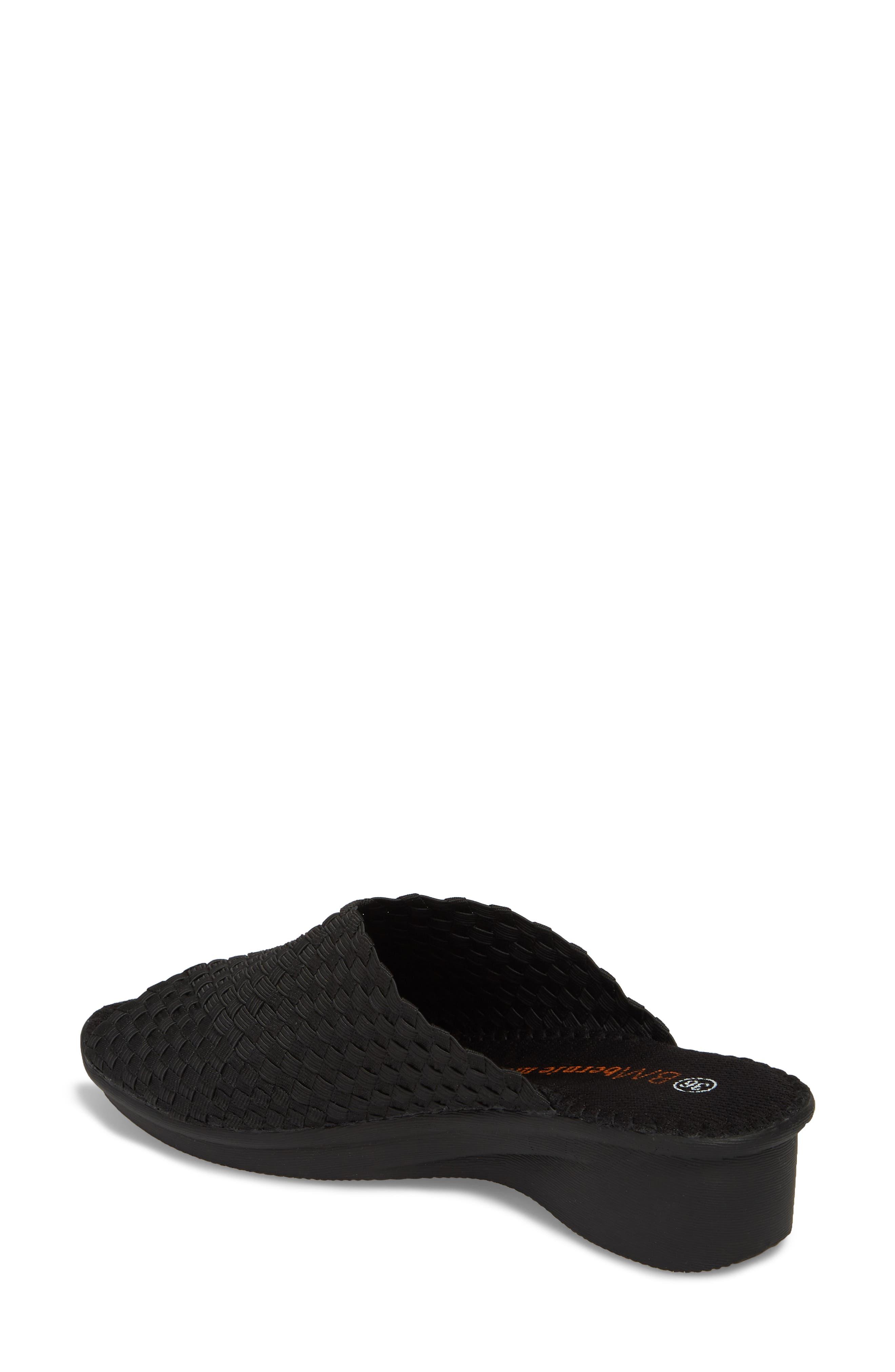Cyrene Wedge Sandal,                             Alternate thumbnail 2, color,                             BLACK FABRIC