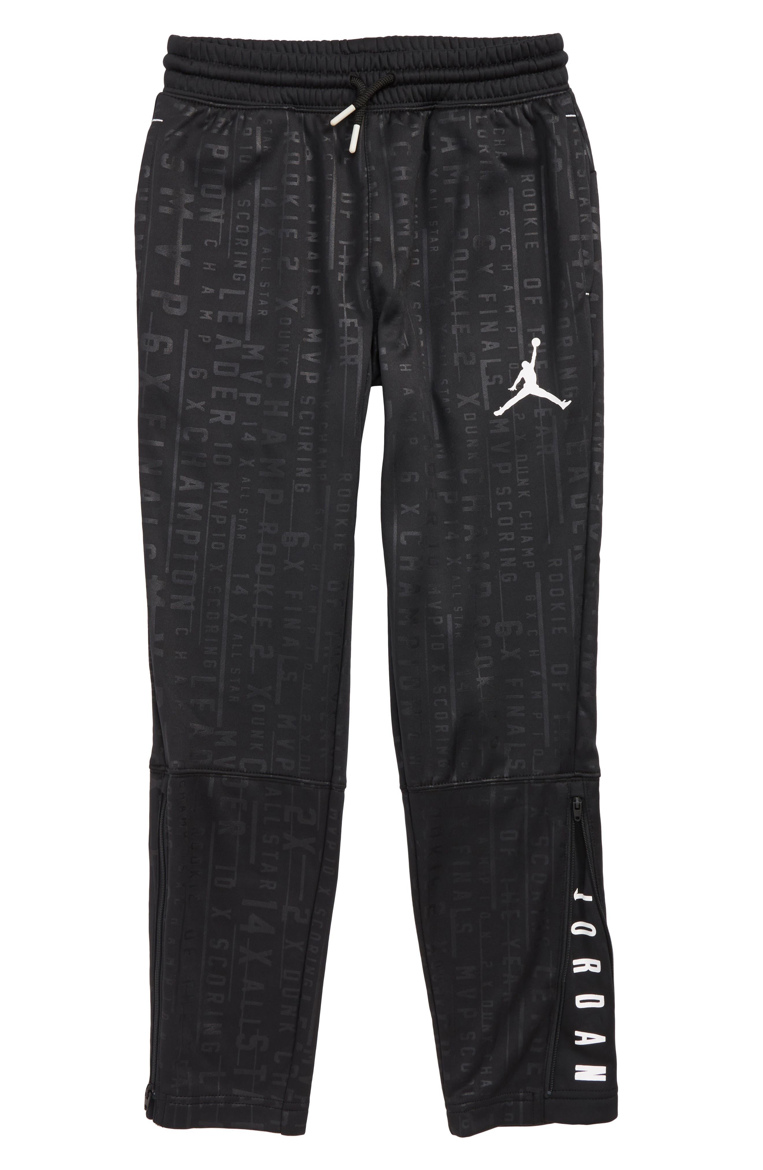 Jordan Tech Accolades Pants,                             Main thumbnail 1, color,                             BLACK/ WHITE