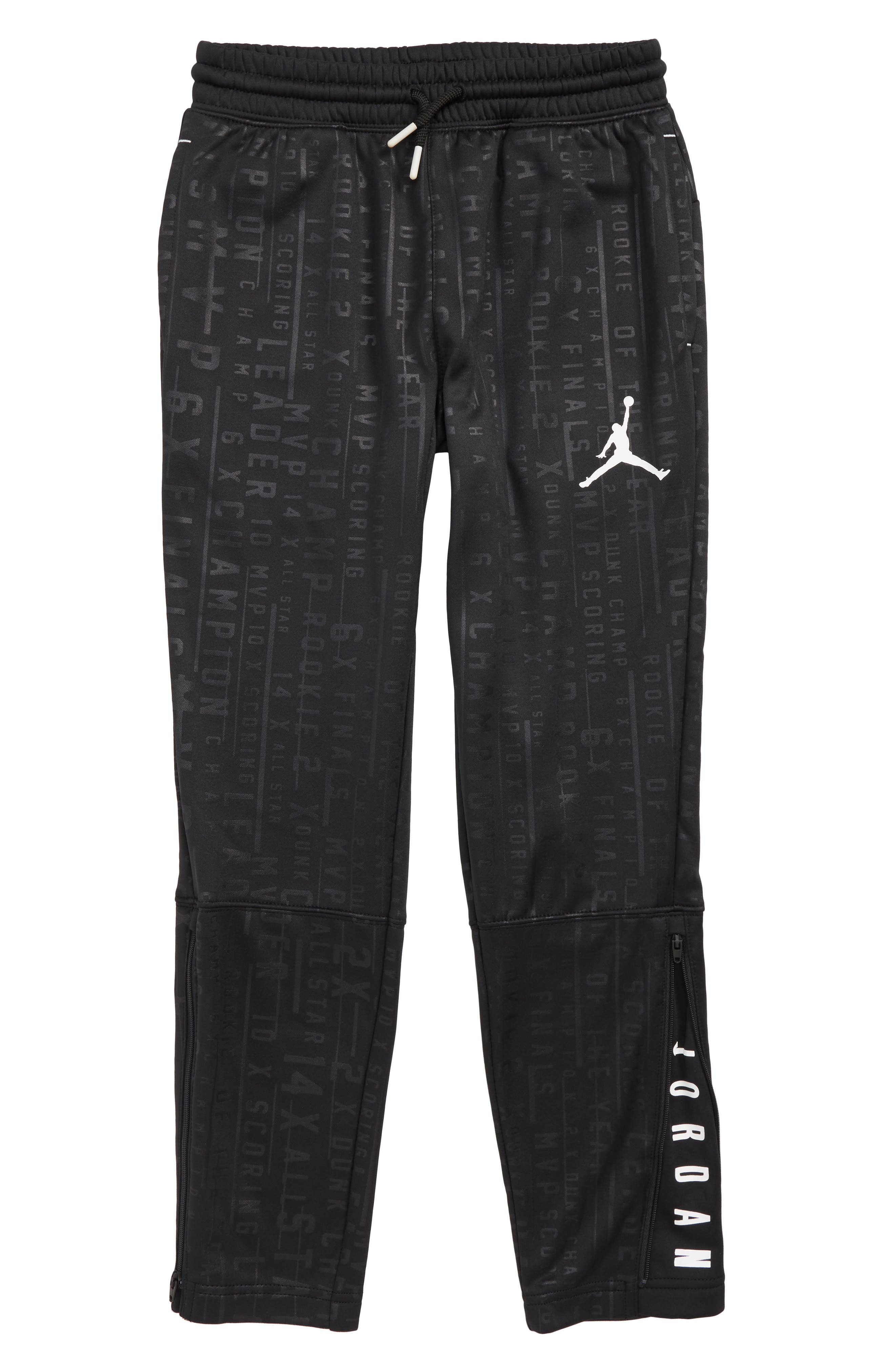 Jordan Tech Accolades Pants,                         Main,                         color, BLACK/ WHITE