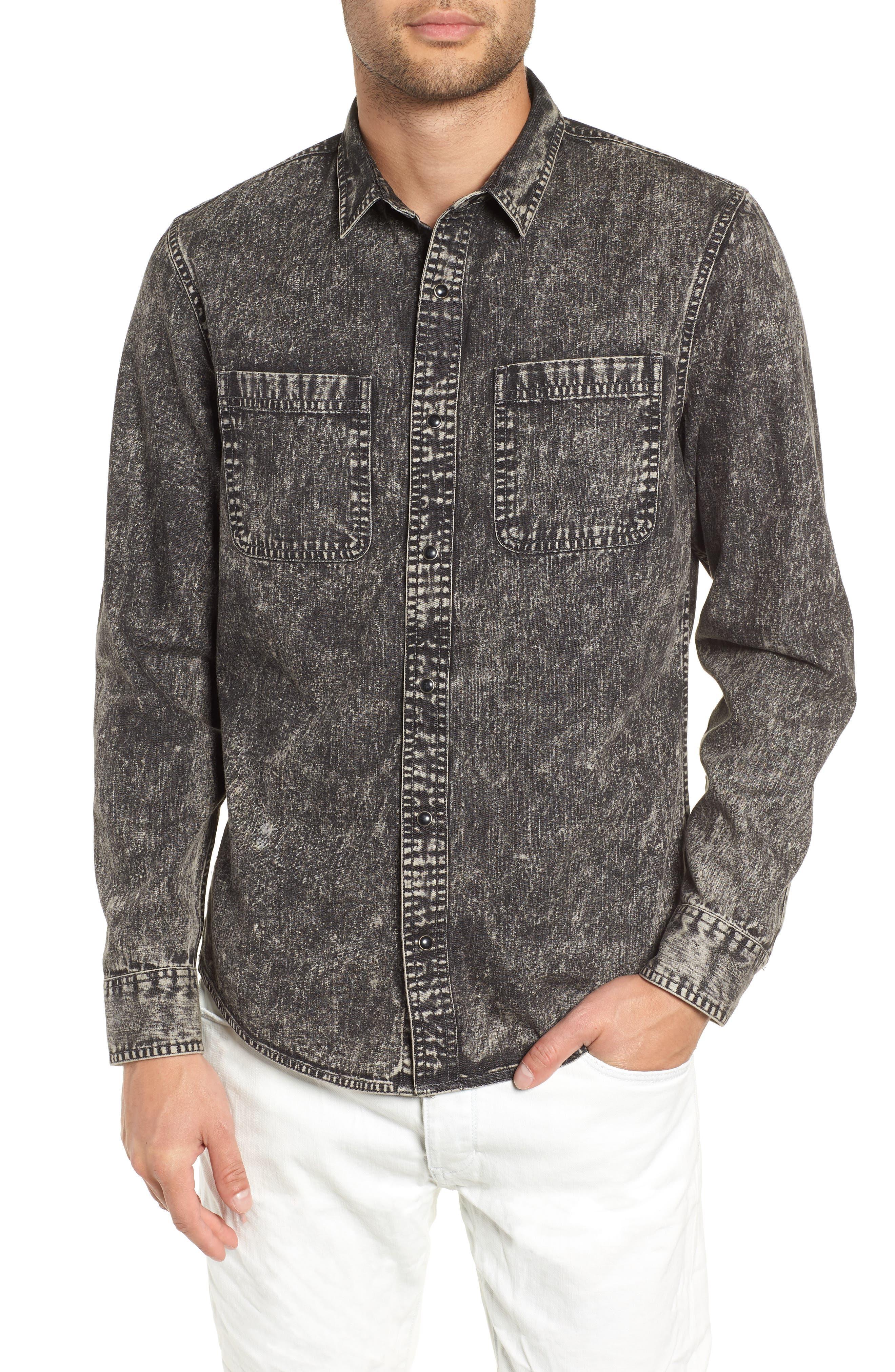 Acid Wash Denim Shirt,                         Main,                         color, 021