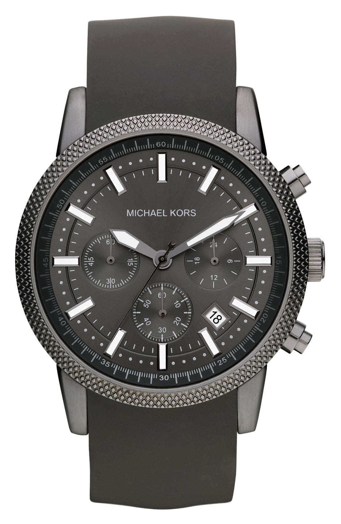 Michael Kors 'Scout' Chronograph Silicone Strap Watch, 43mm,                             Main thumbnail 2, color,
