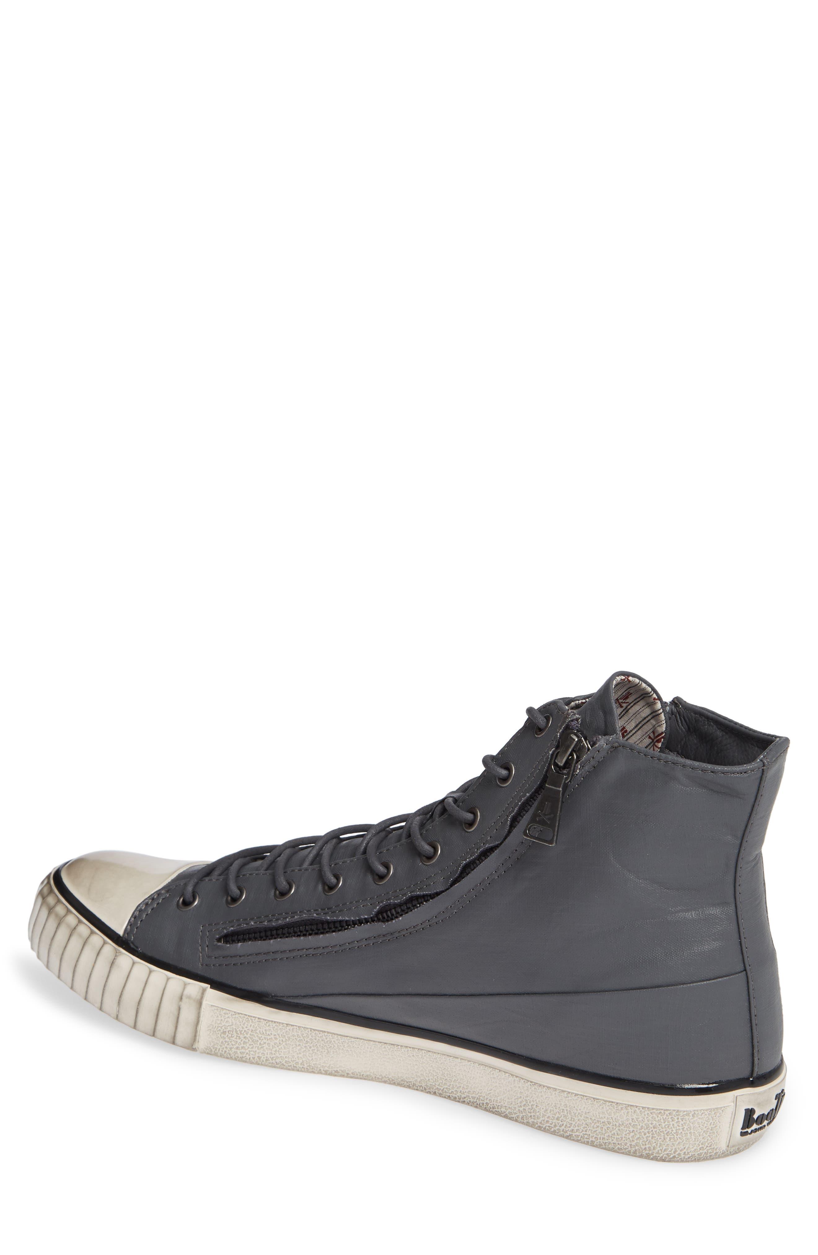 John Varvatos Star USA Bootleg Sneaker,                             Alternate thumbnail 2, color,                             GREY COATED LINEN