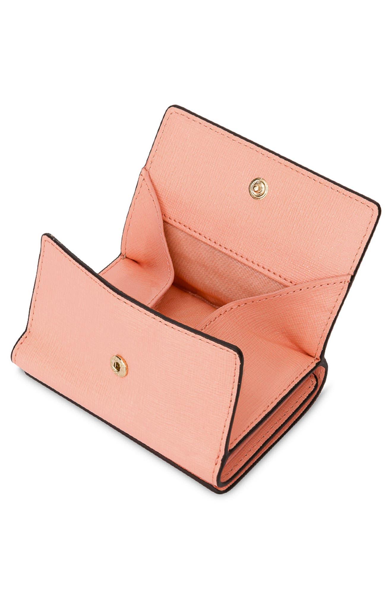 Babylon Saffiano Leather Trifold Wallet,                             Alternate thumbnail 4, color,