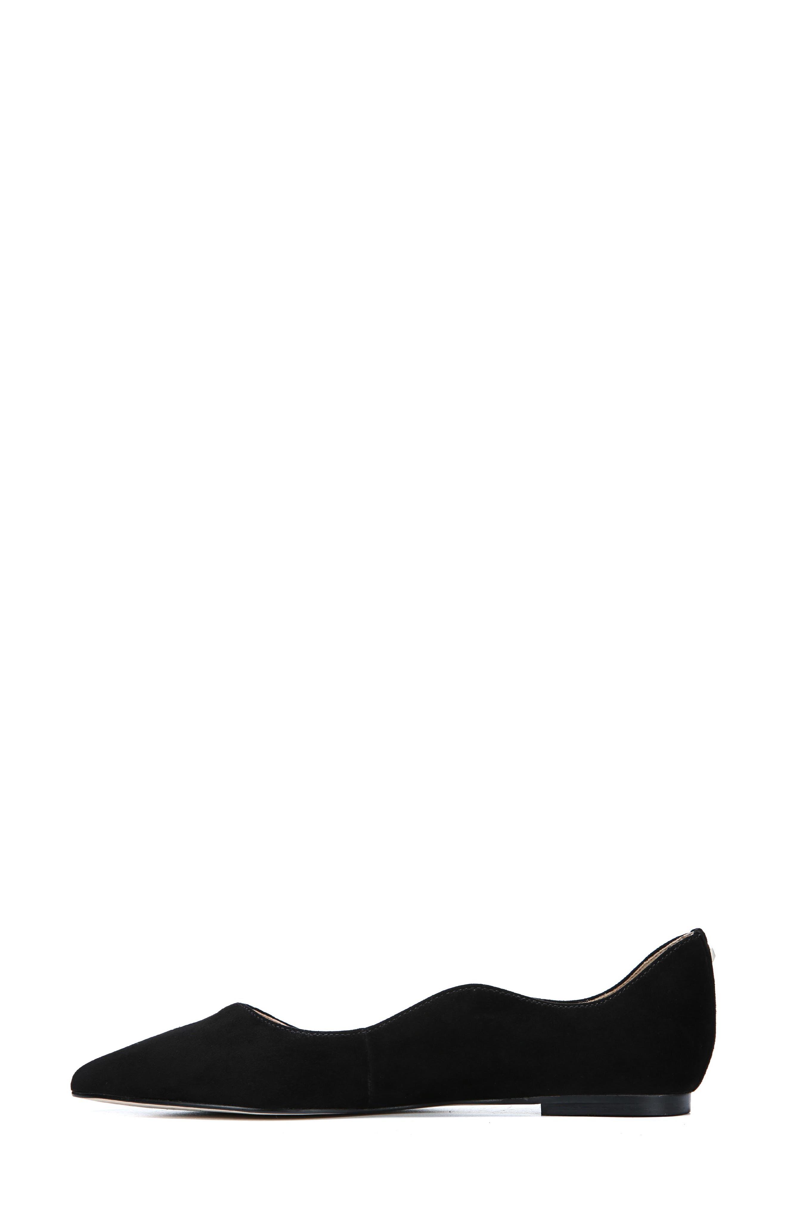 Rosalie Flat,                             Alternate thumbnail 7, color,                             BLACK SUEDE
