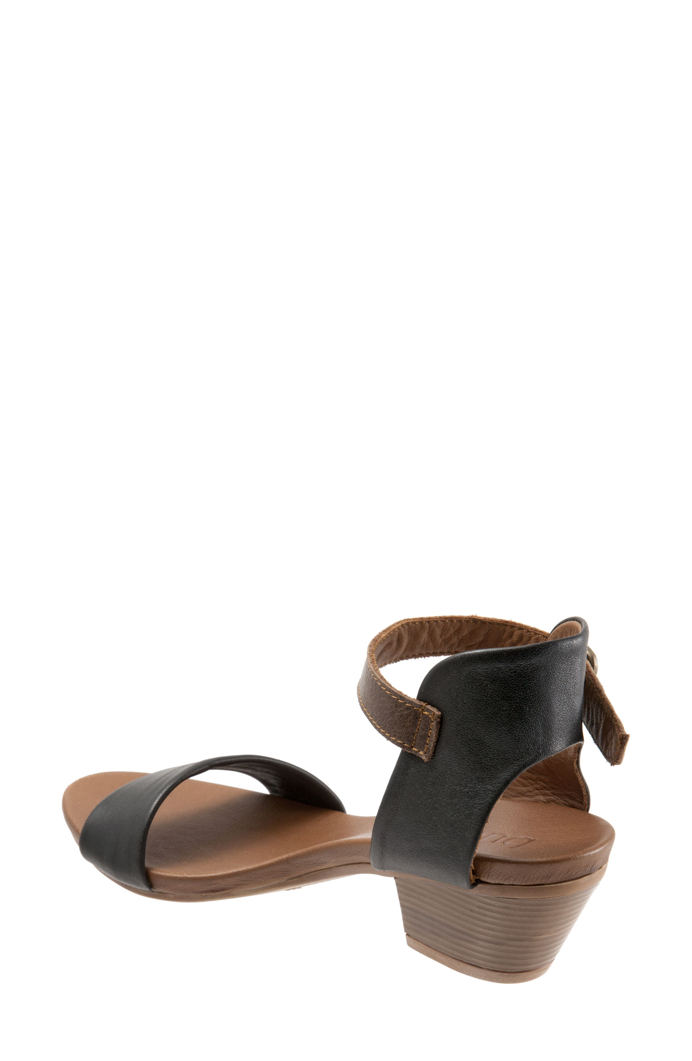 Sue Sandal,                             Alternate thumbnail 2, color,                             BLACK LEATHER