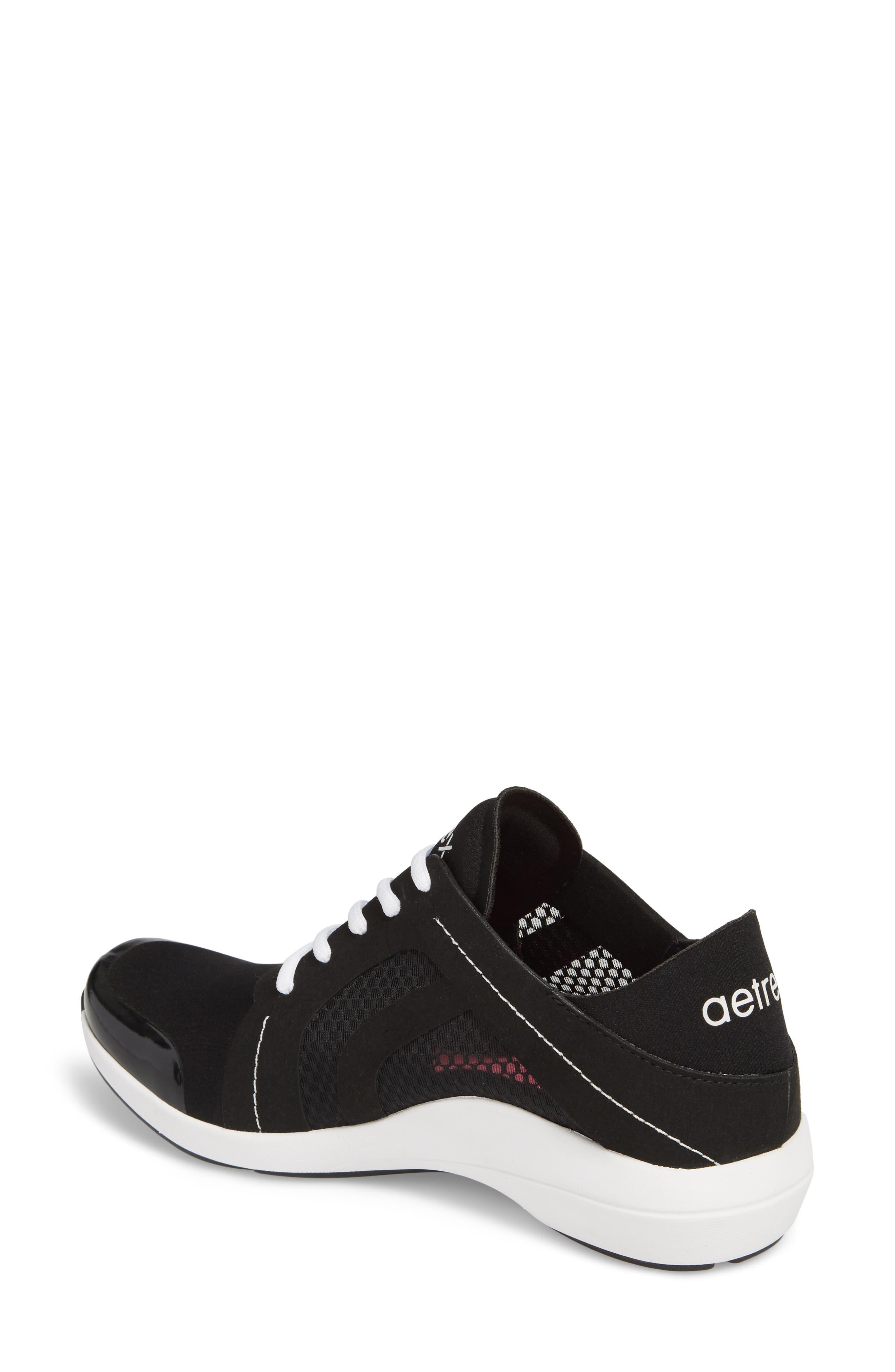 Sloane Sneaker,                             Alternate thumbnail 2, color,                             BLACK FABRIC