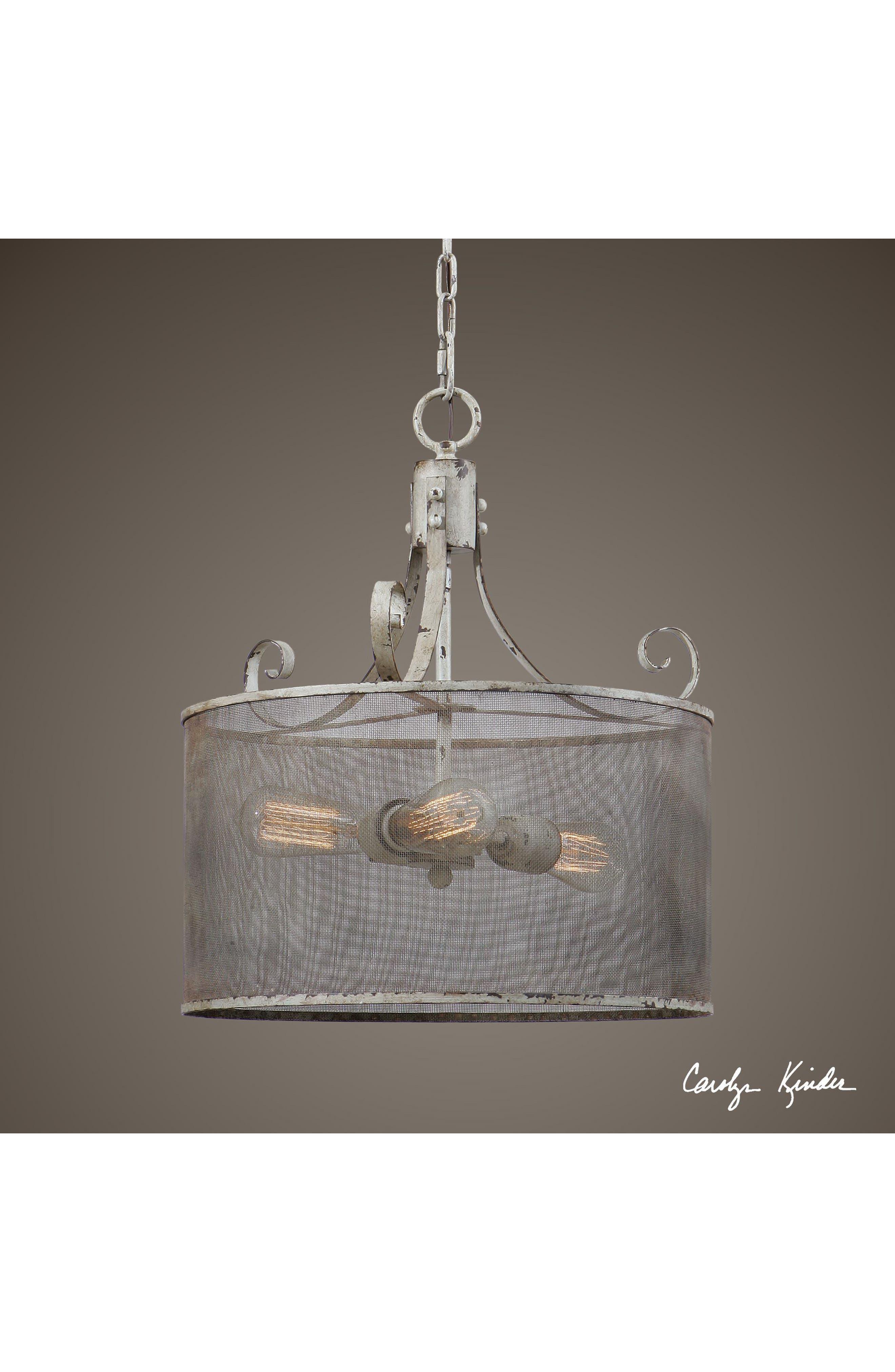 Pontoise Three Light Drum Pendant Lamp,                             Alternate thumbnail 2, color,                             900