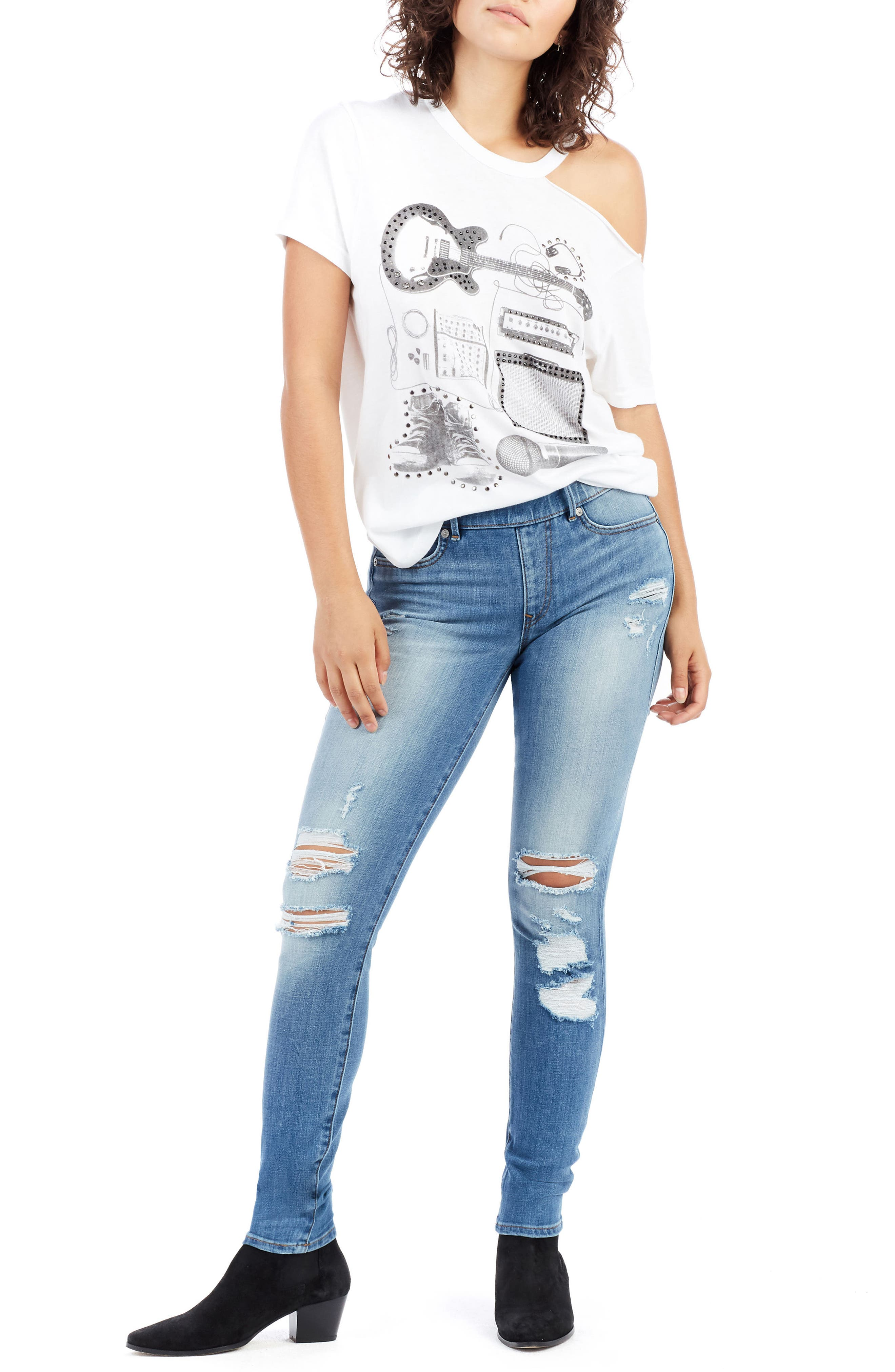 Jennie Runway Curvy Skinny Jeans,                             Alternate thumbnail 7, color,                             400