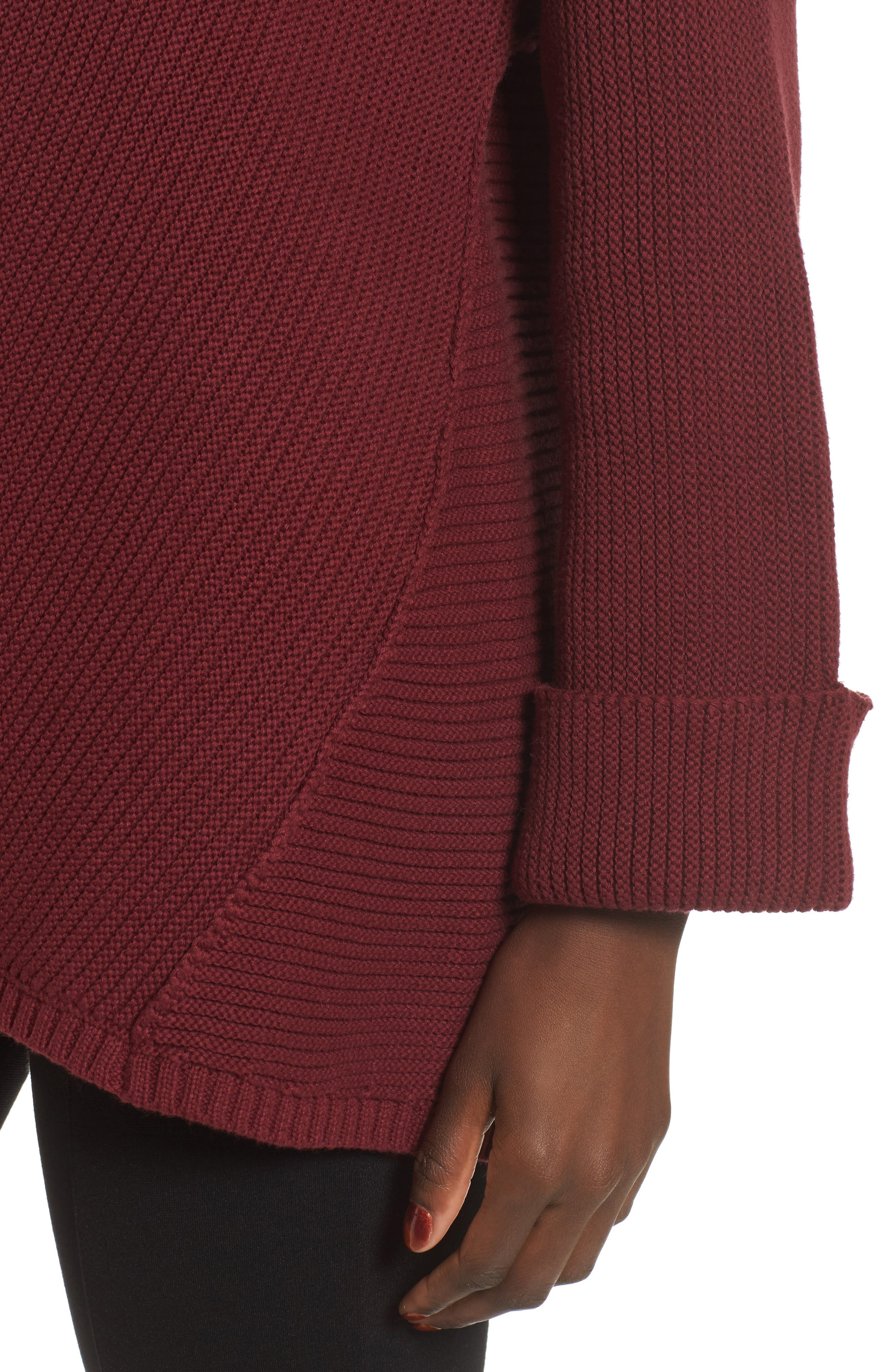 Cuff Sleeve Pullover,                             Alternate thumbnail 8, color,