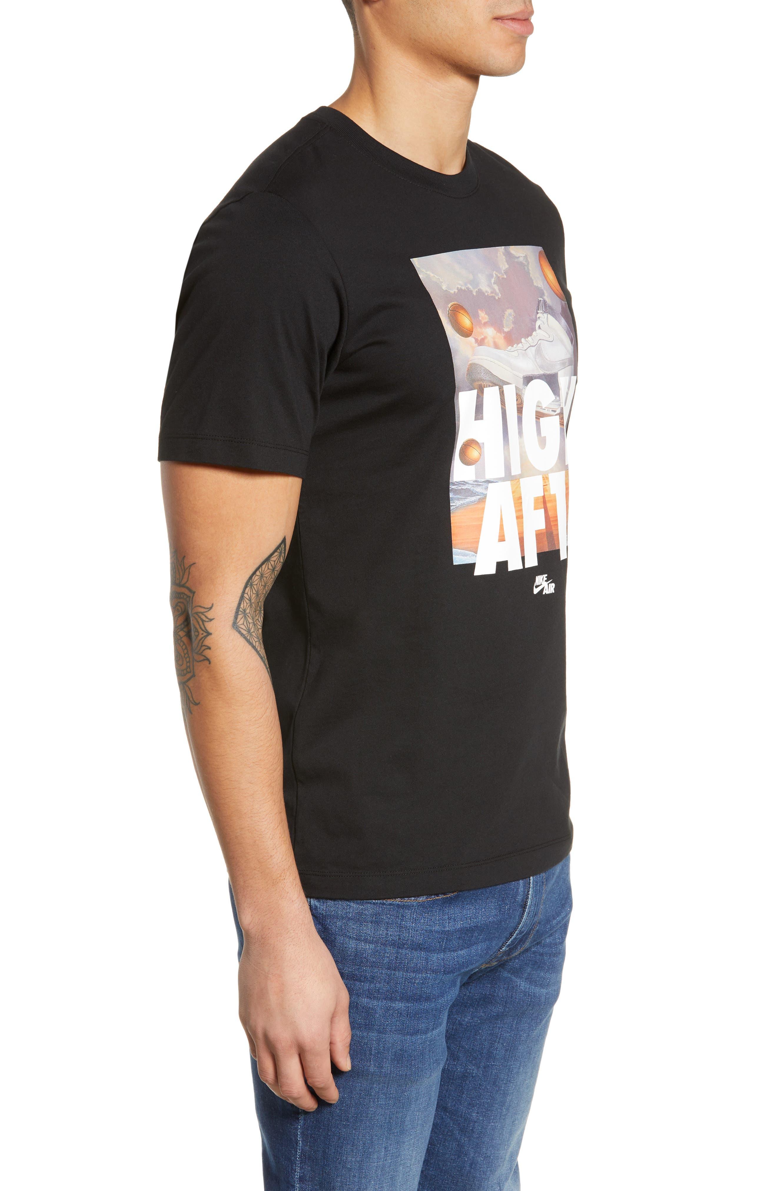 Air Force 1 T-Shirt,                             Alternate thumbnail 3, color,                             BLACK