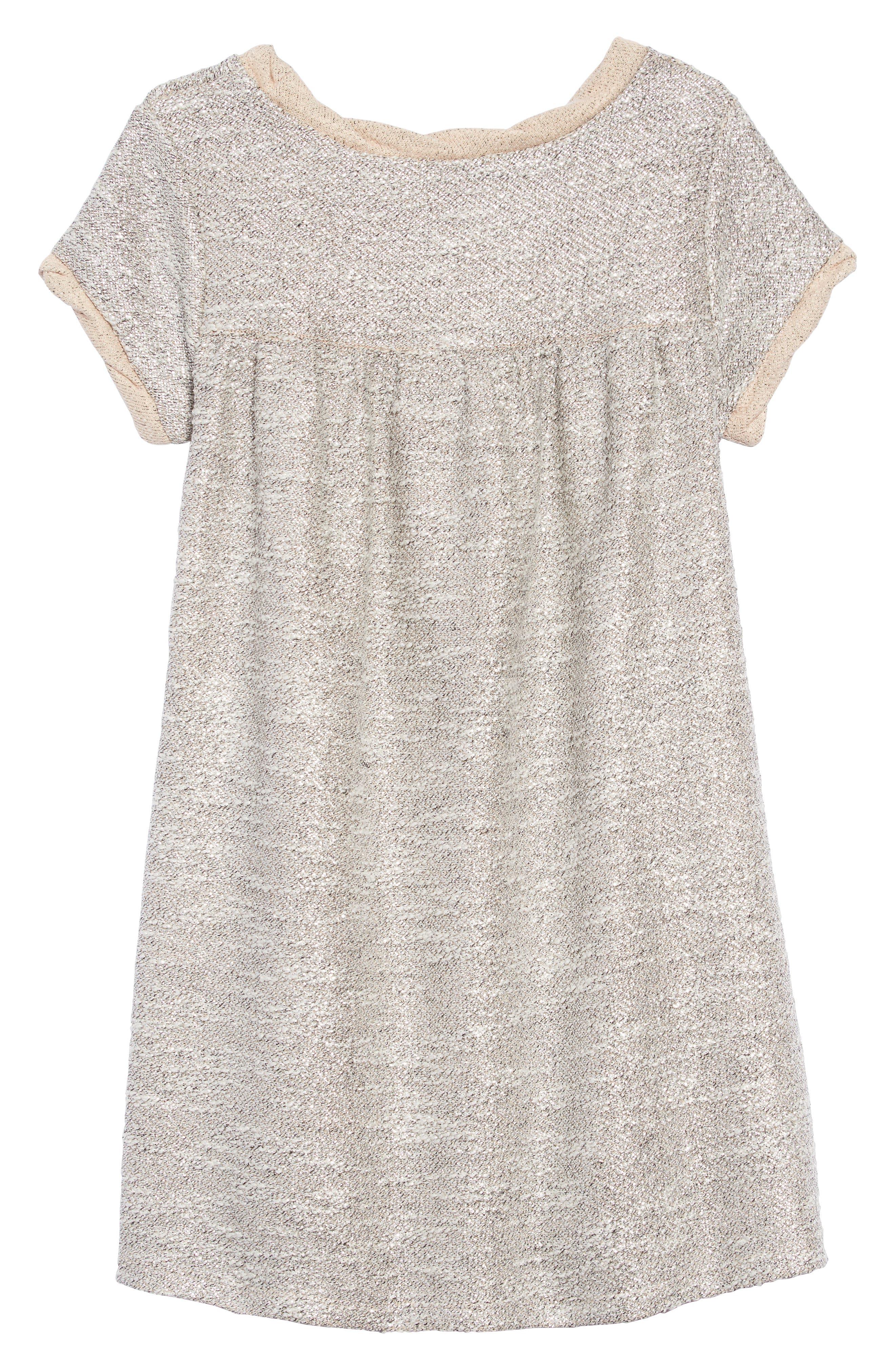 Metallic Shimmer Dress,                             Alternate thumbnail 2, color,                             PALE DOGWOOD