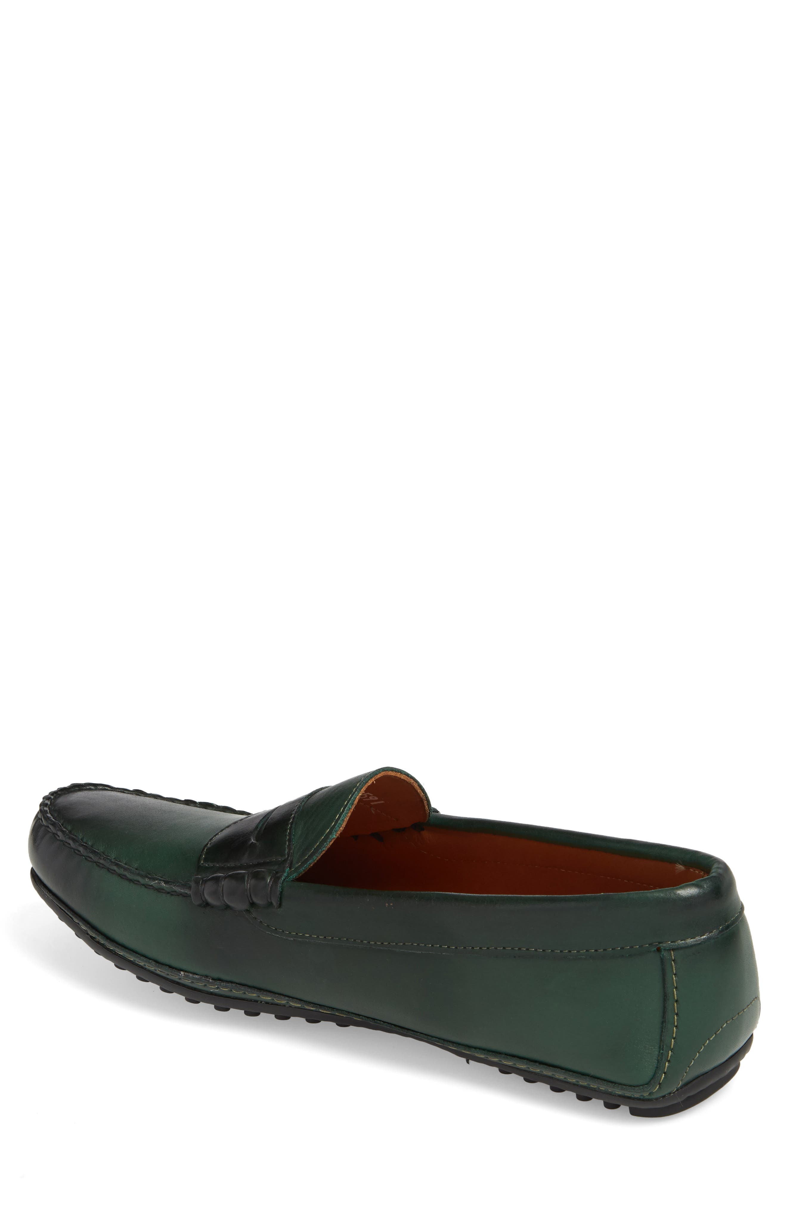 Siesta Key Penny Loafer,                             Alternate thumbnail 2, color,                             GREEN LEATHER