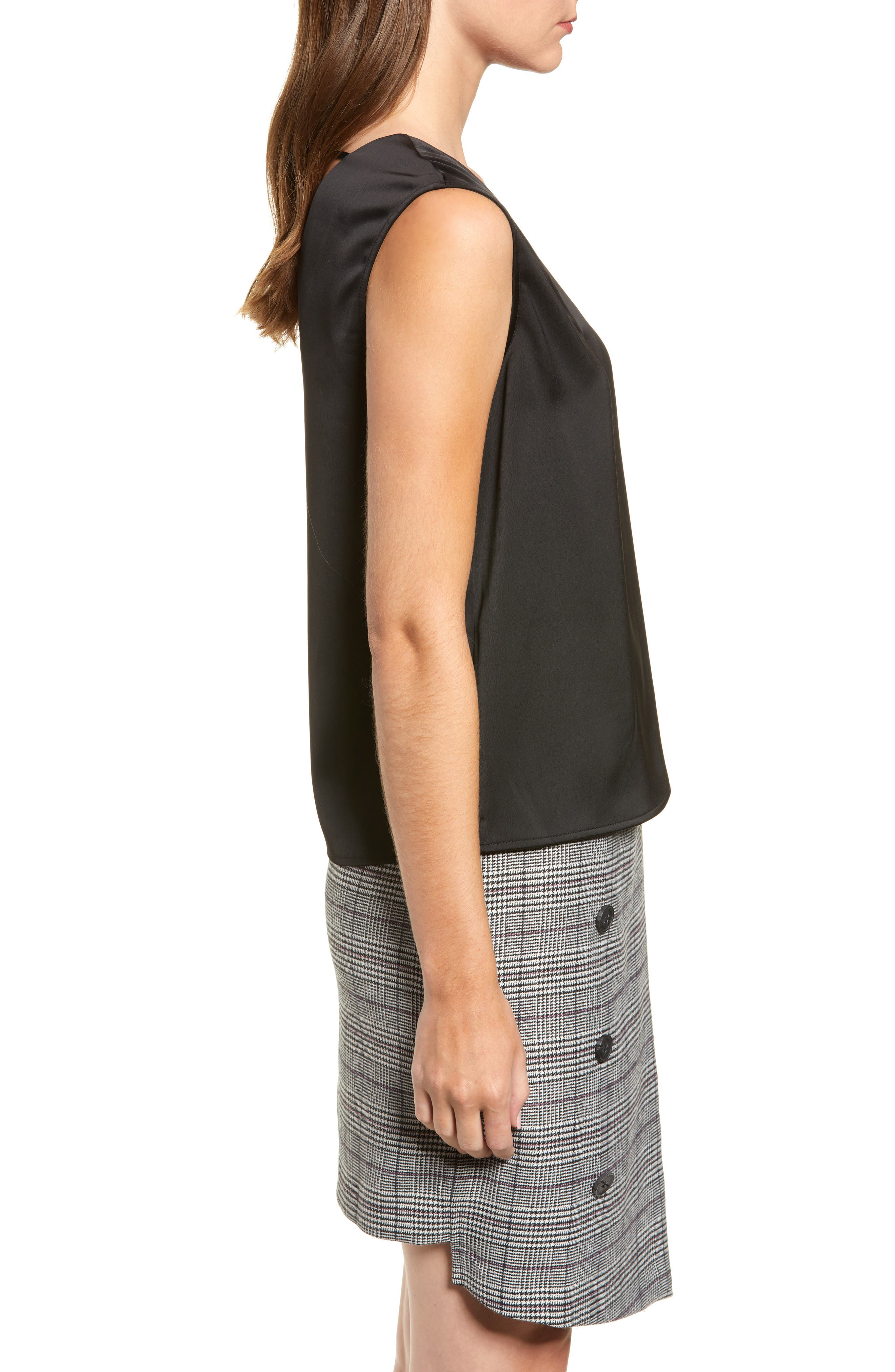 Chriselle Lim Veronica V-Neck Tank,                             Alternate thumbnail 4, color,                             001