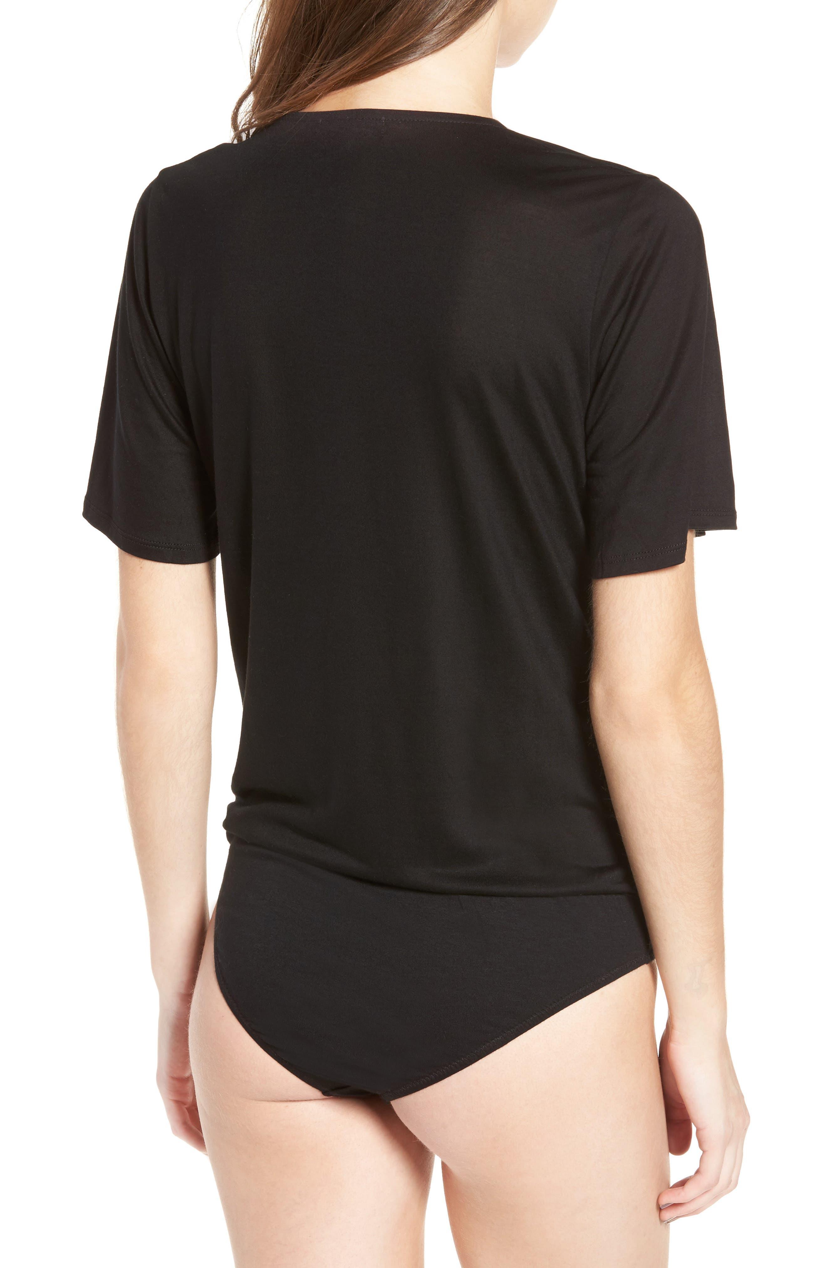Faux Wrap Bodysuit,                             Alternate thumbnail 5, color,