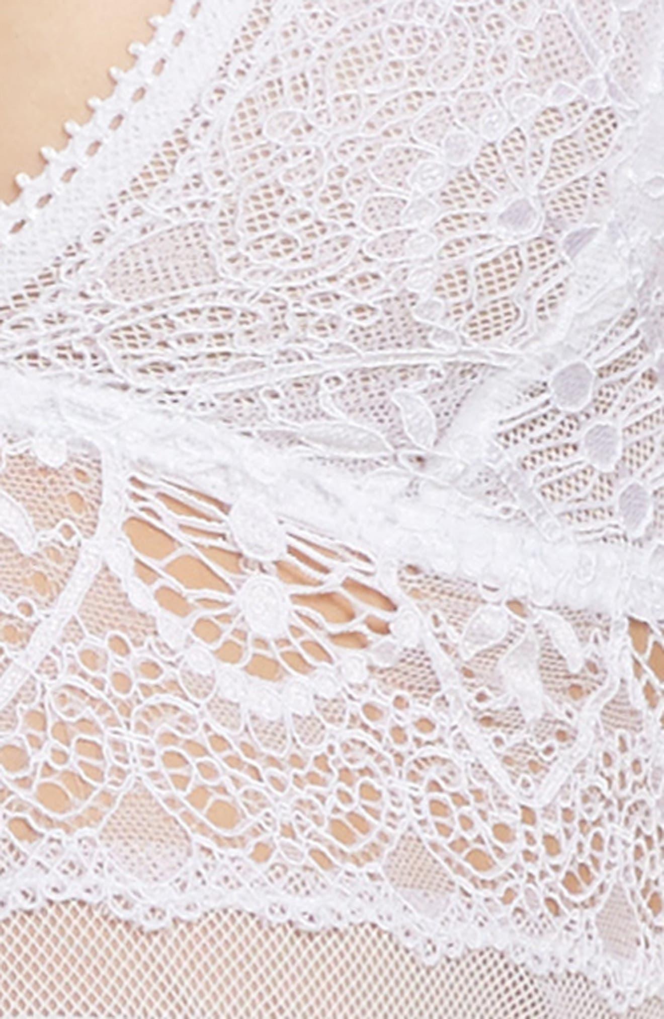 Lace Longline Bralette,                             Alternate thumbnail 19, color,