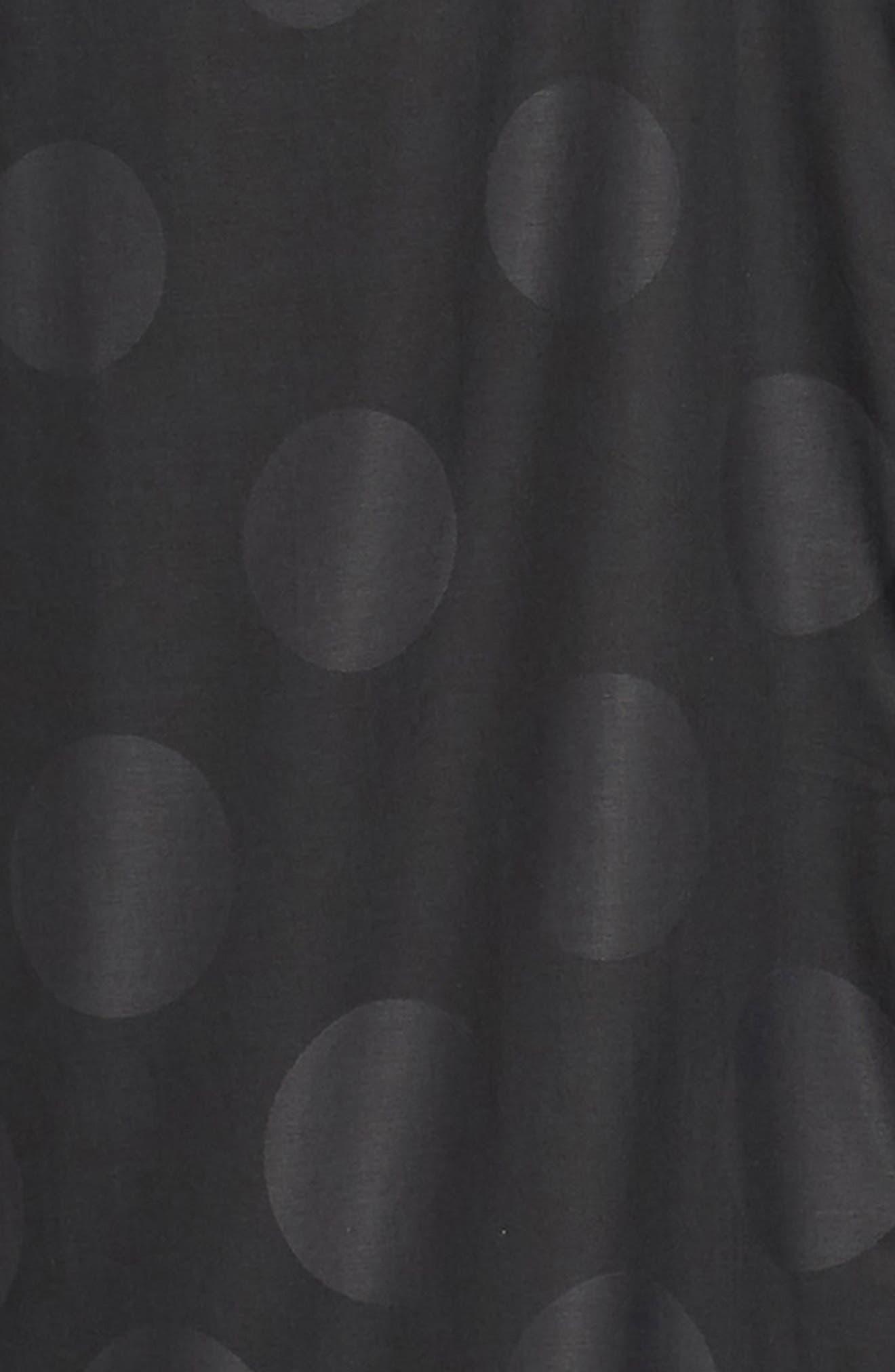 Print Sport Shirt,                             Alternate thumbnail 6, color,                             BLACK GRADUATED POLKA DOT