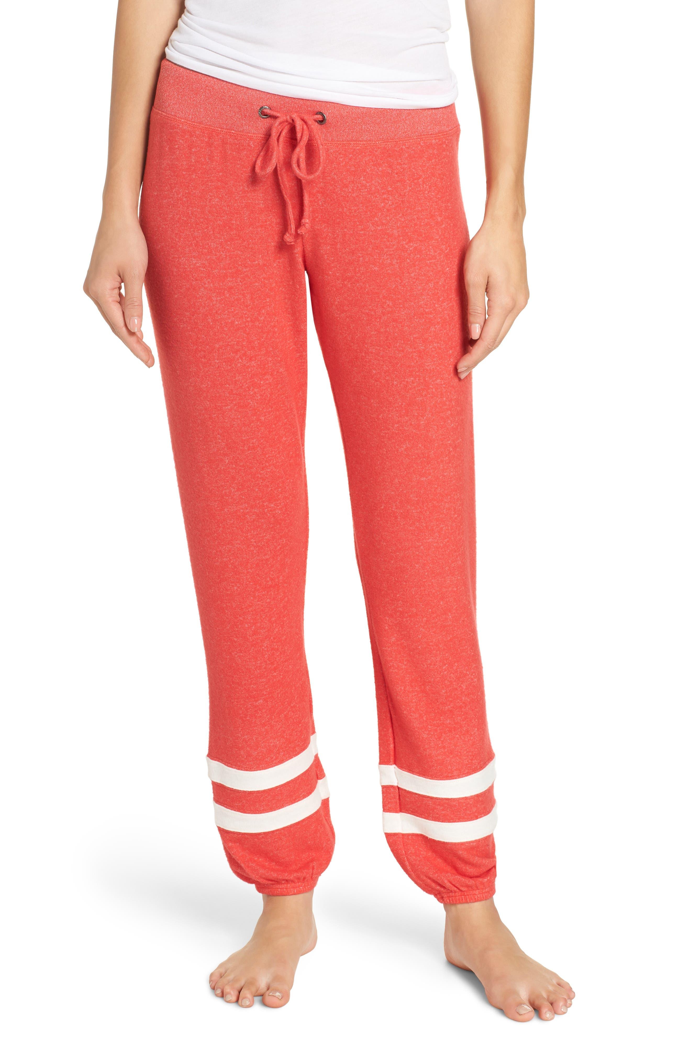 Good Vibes Jogger Pants,                         Main,                         color, RED TOMATO/ IVORY EGRET STRIPE