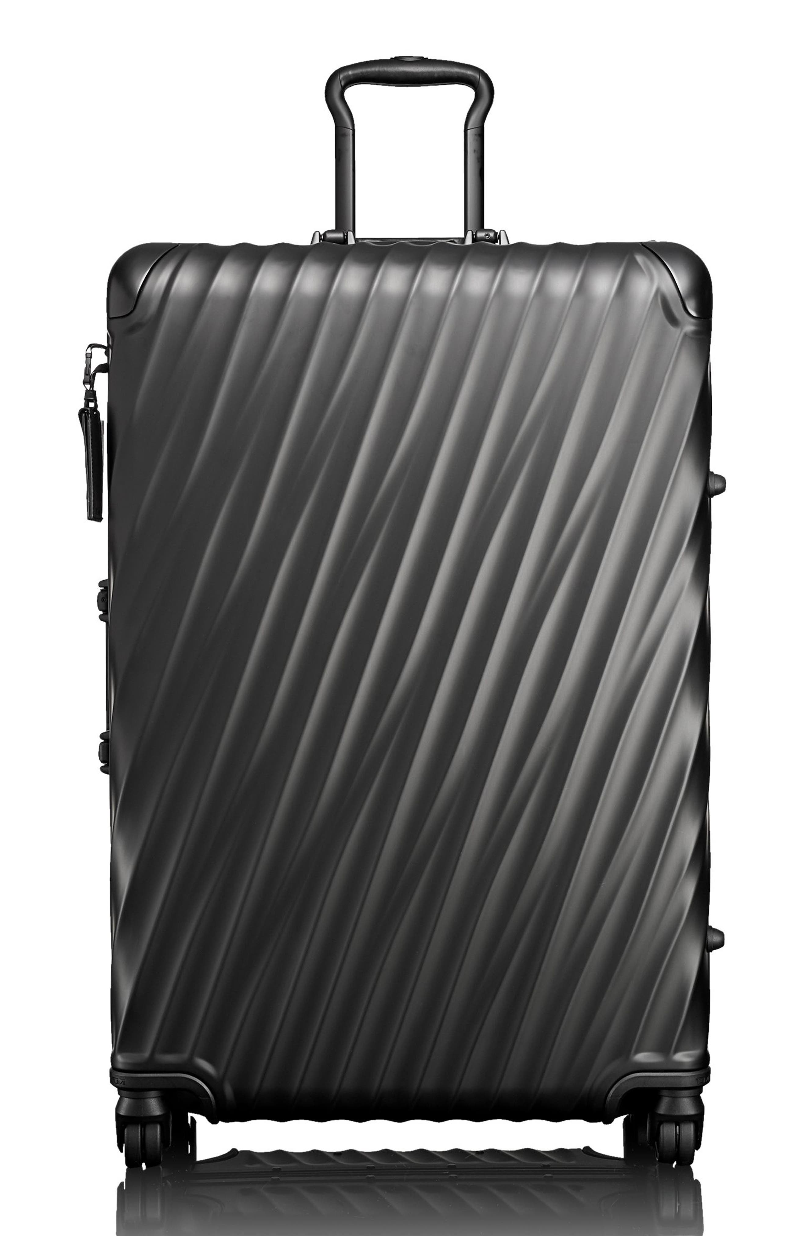 19 Degree 31-Inch Extended Trip Wheeled Aluminum Packing Case,                             Main thumbnail 1, color,                             MATTE BLACK